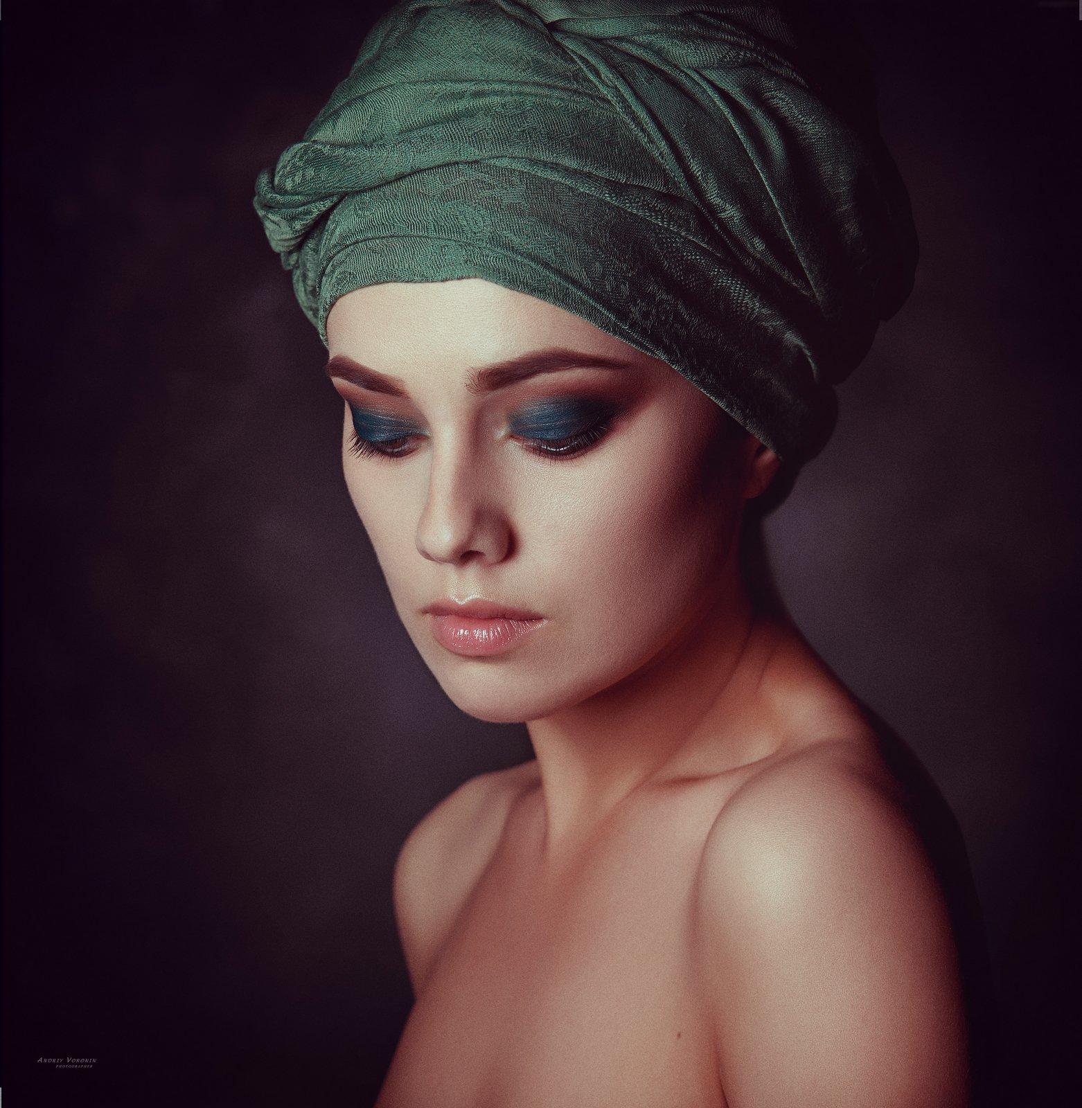 портрет,девушка,макияж,глаза,студия,, Воронин Андрей