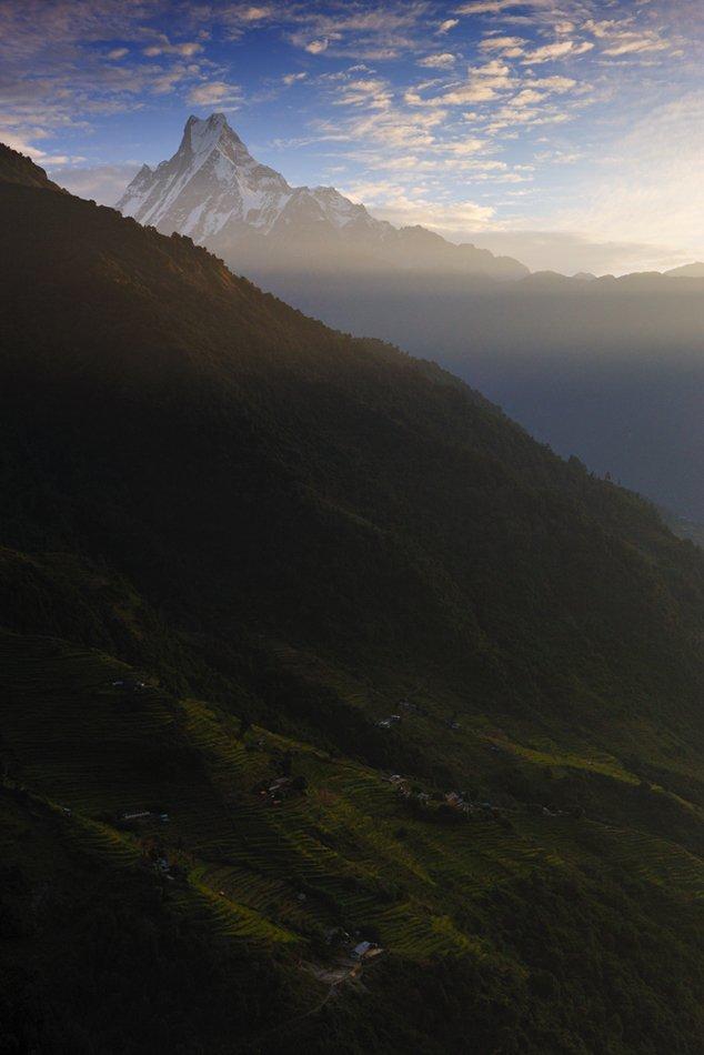 мачапучре, непал, гималаи, горы, рассвет, Vasiliy Ganzha