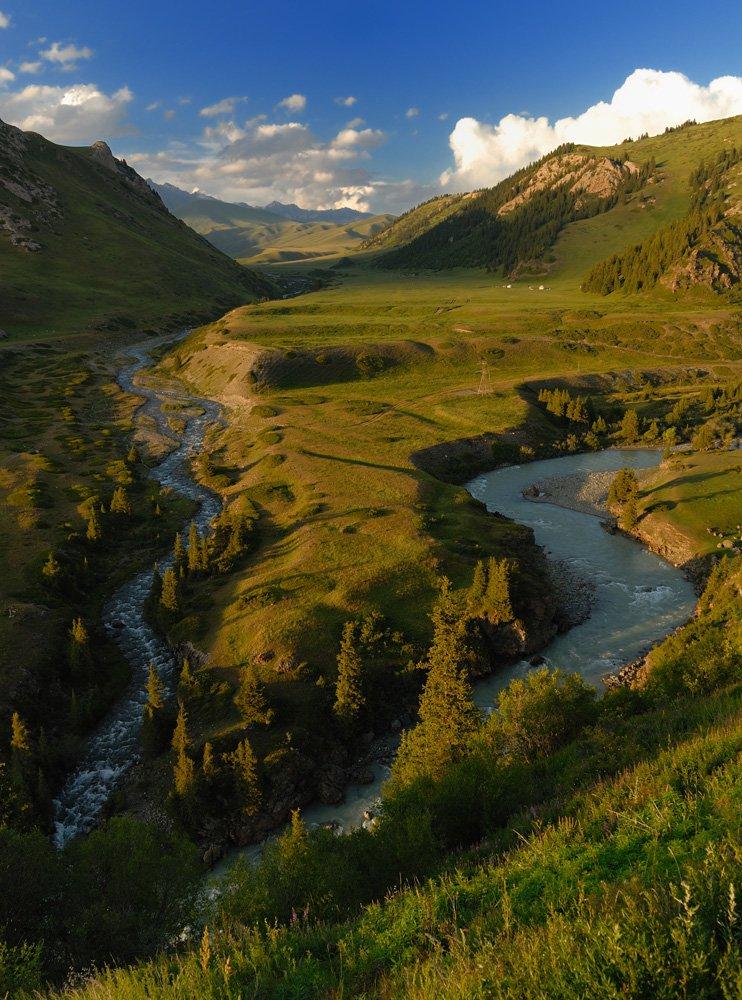 киргизия, горы, реки, ат-баши, Vasiliy Ganzha