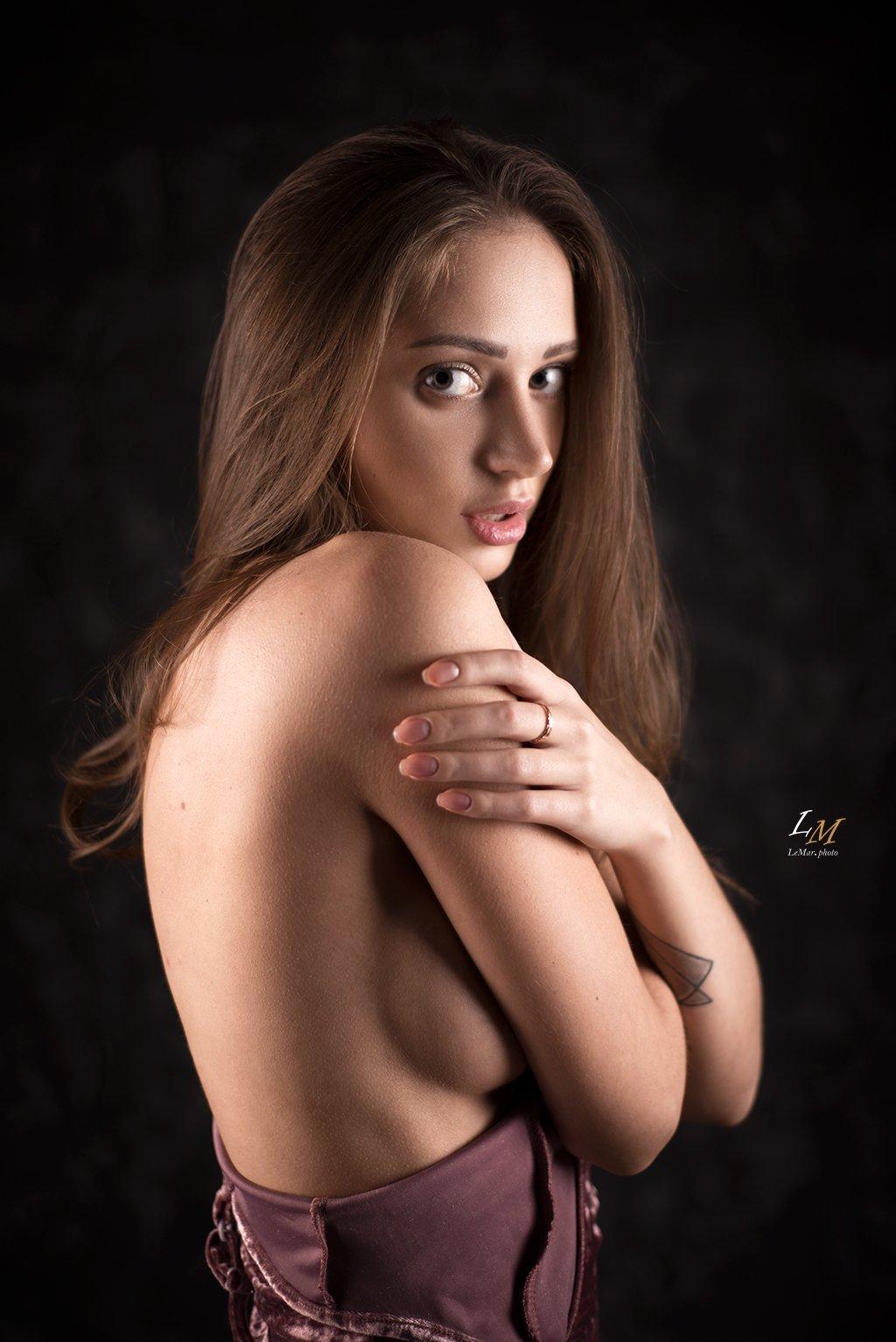 портрет, девушка, студия, фотограф москва, портретный фотограф, москва, Маркачев Леонид