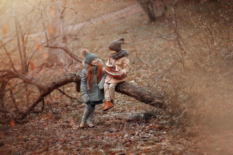 портрет, девочка, мальчик, фотосессия на природе, детские фото, boy, girl, лес, друзья, смех, эмоции, дружба, солнышко, дети, прогулка, фотопрогулка, лучи, sun, happy, happiness, сказка, волшебство, magik, рыжие, рыжики,red, зима, winter,, Юлия Сафо