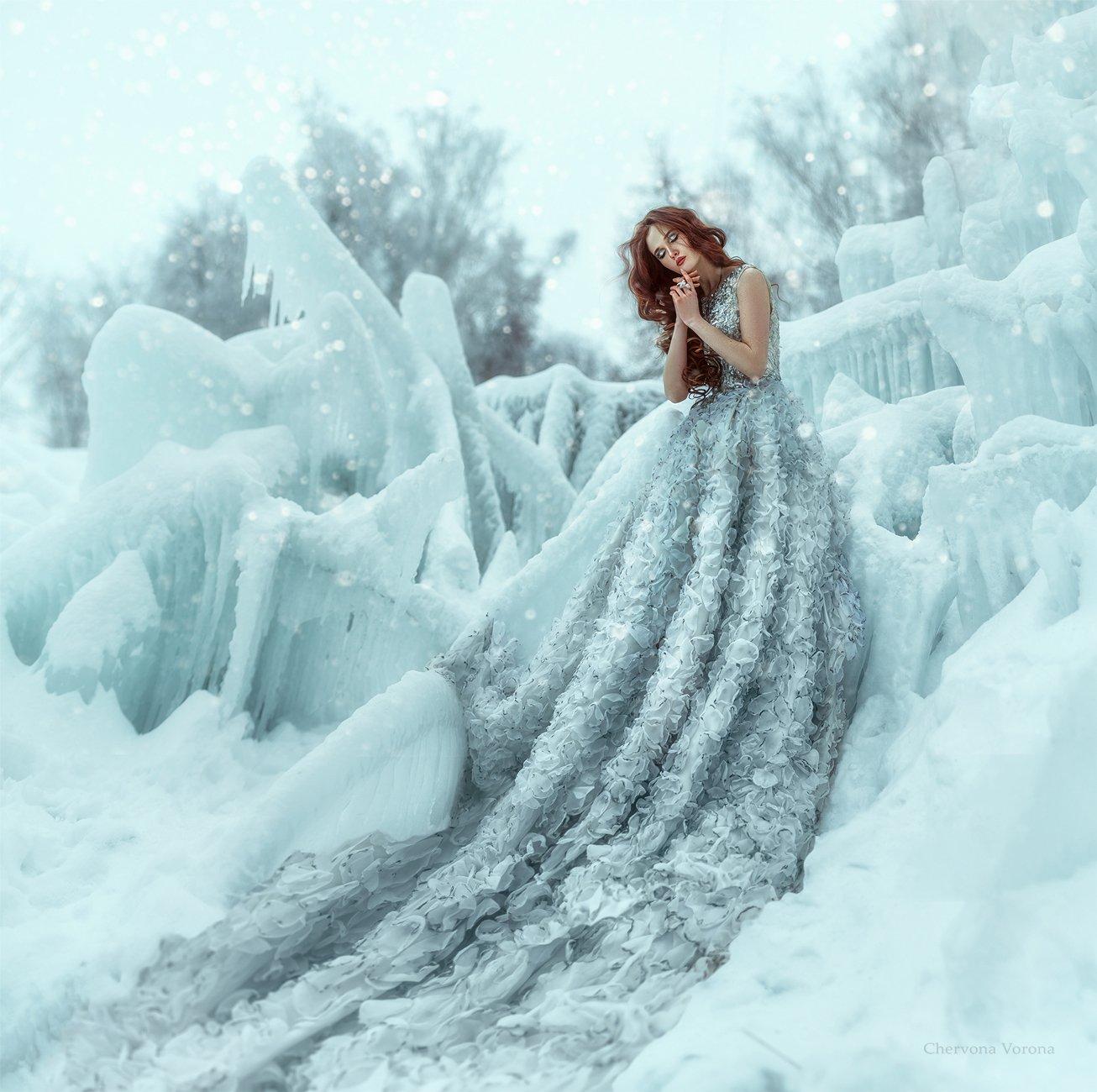 зима, сказка, файнарт, Червона Ворона