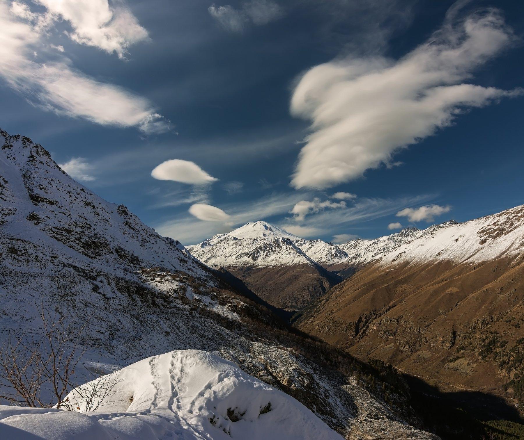 горы,кавказ, восхождения,эльбрус, ледник, облака, Эстелла