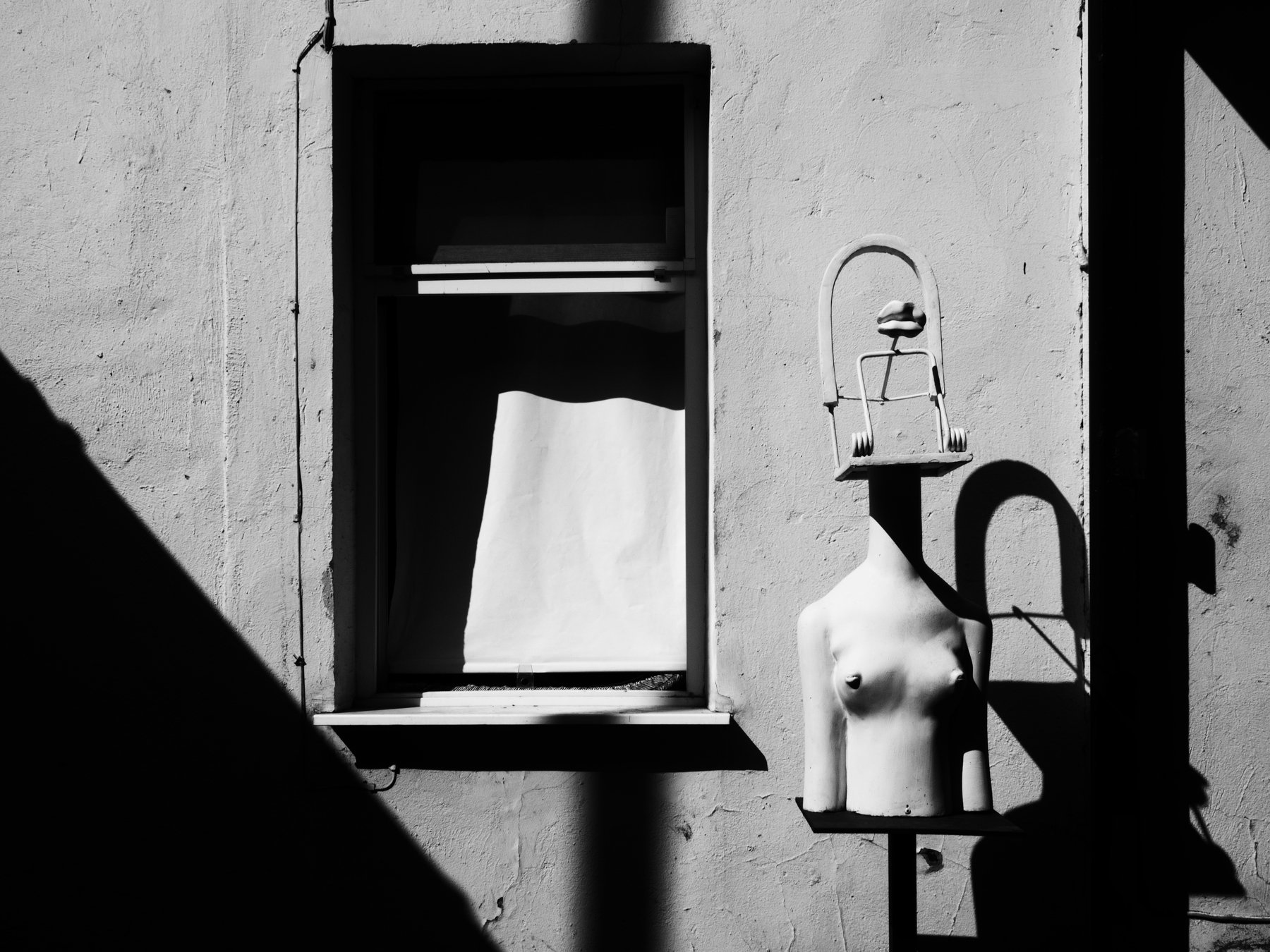 Black and white, Monochrome, Woman, Surreal, Surrealism, Museum, Moscow, Russia, Elena Beregatnova