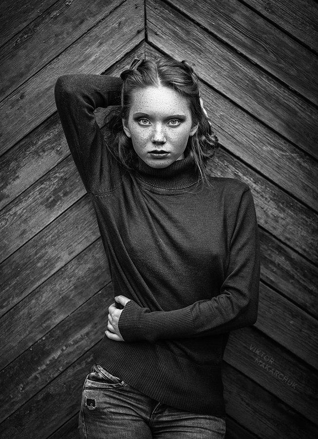 portrait,face,mood,look,eyes,model,girl,black and white, Виктор Макарчук