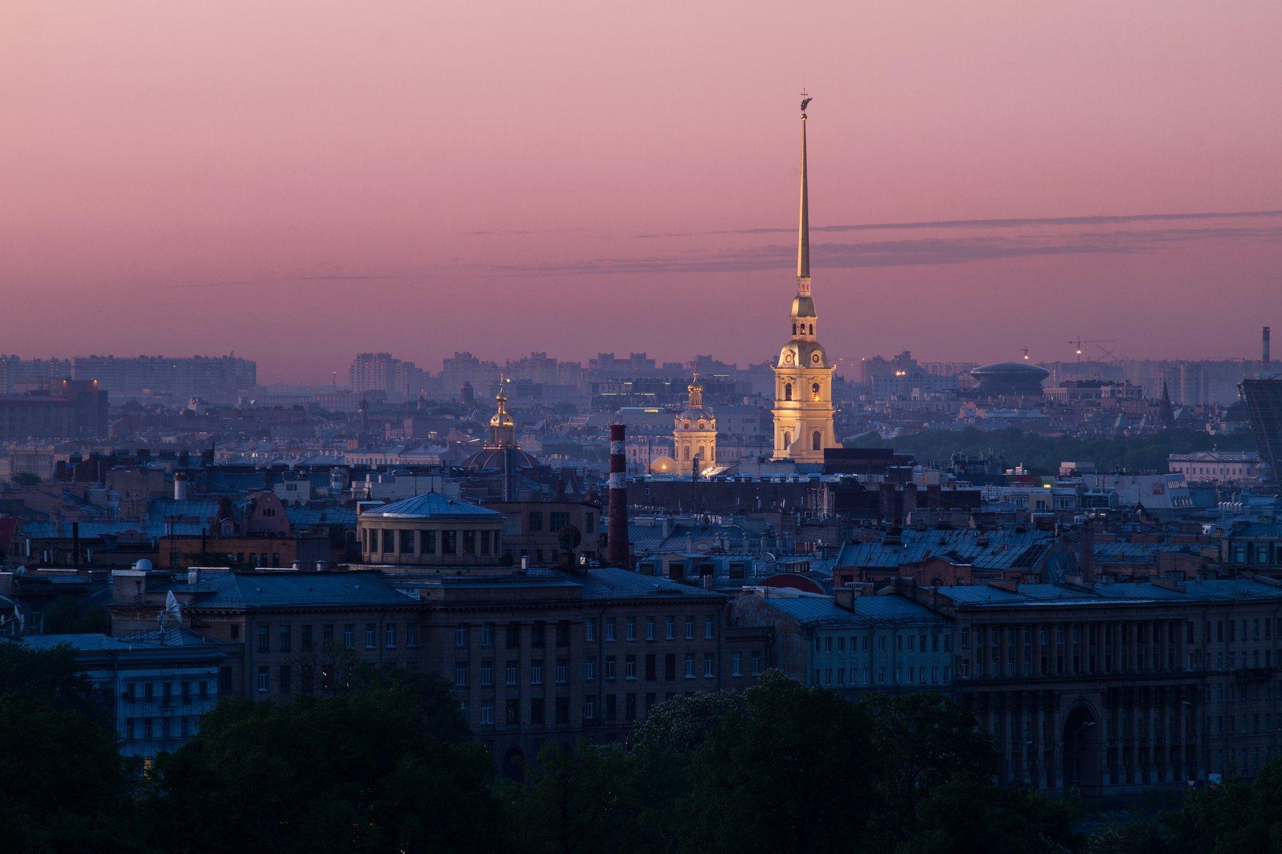 рассвет, россия, санкт-петербург, городской пейзаж, Креймер Мария