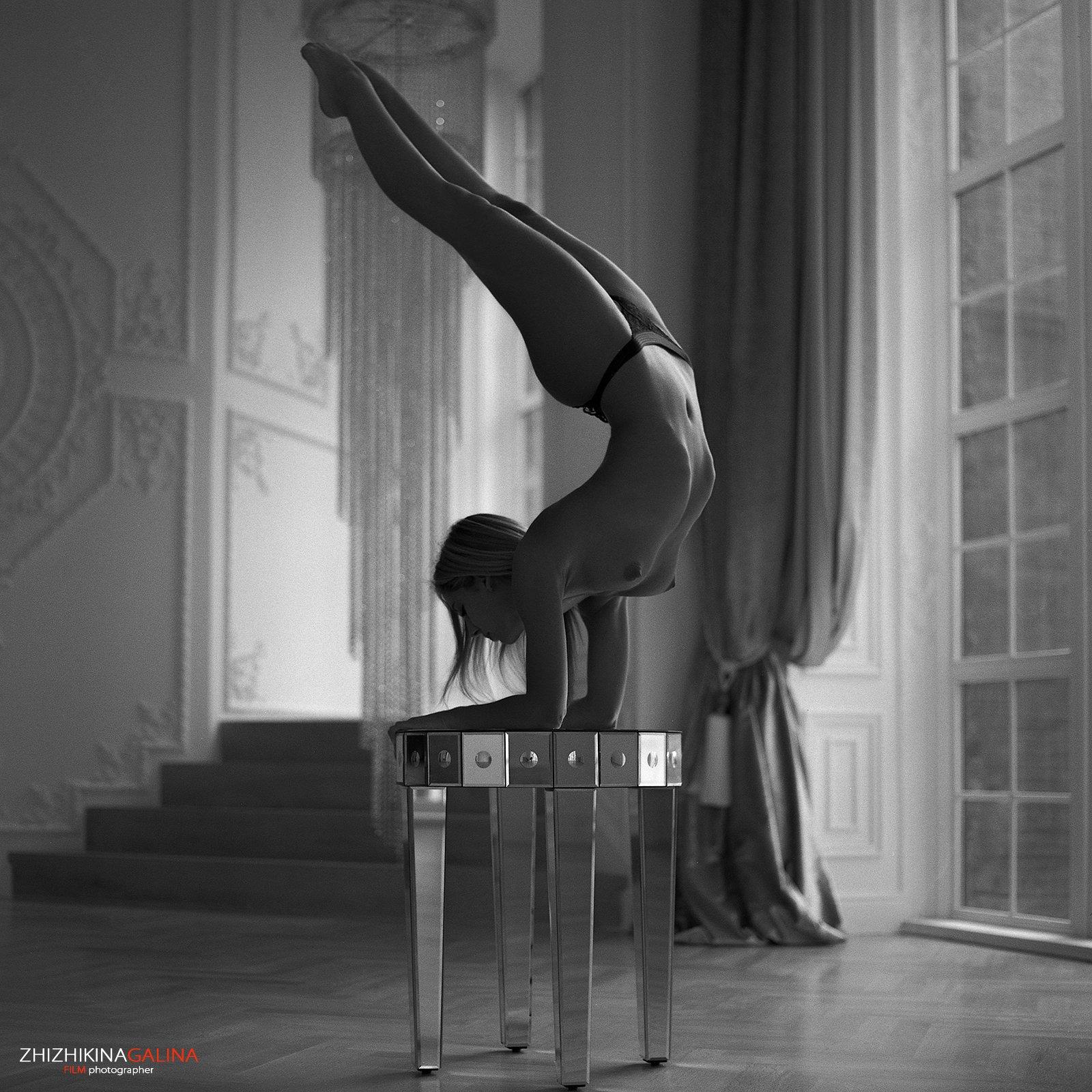 чб, ню, артню, гимнастка, пленка, фото, фотография, film, bw, nu, nude, girl, photo, Галина Жижикина