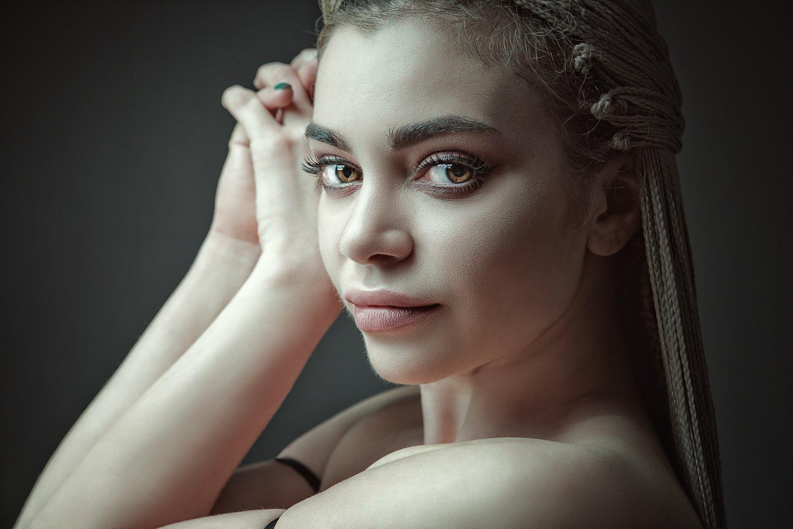 blonde, female, beauty, portrait, nude, naked, sensual, sensuality, feminine, woman, adult, adorable, mood, people, look, dreadhair, Дмитрий Толоконов