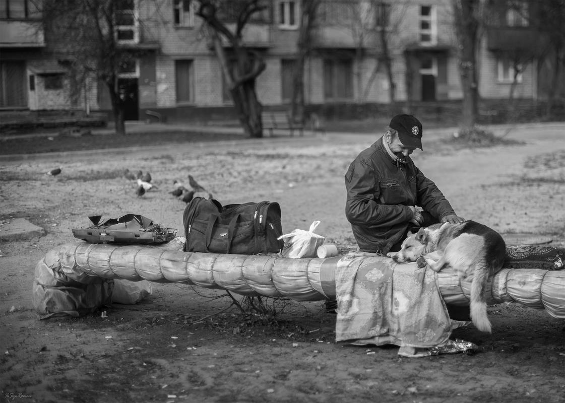 мужчина,собака,жанр,улица,портрет, Roma  Chitinskiy