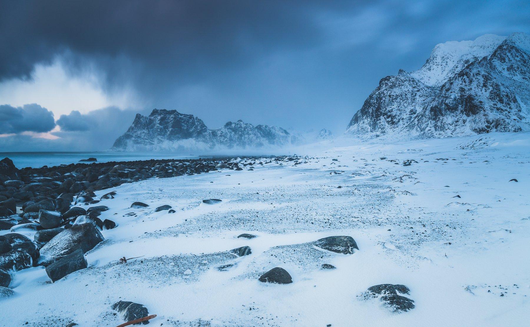 lofoten,norway,utakleiv,uttakleiv,winter,blue hour,norwegian,landscape,nature,, Szatewicz Adrian
