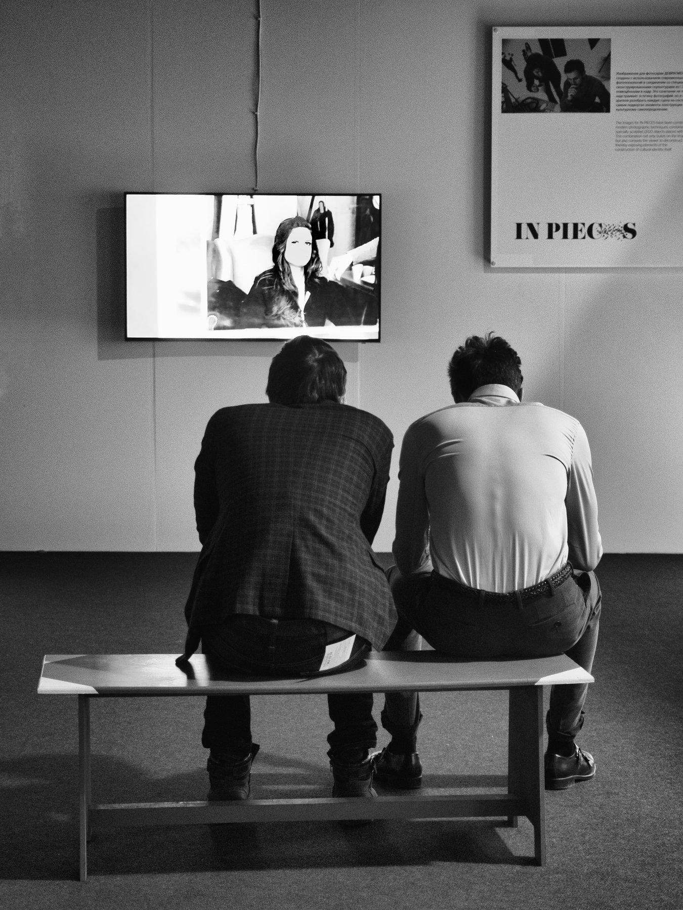 Exibition, Moscow, Russia, Black and white, Monochrome, Street, Portrait, Elena Beregatnova