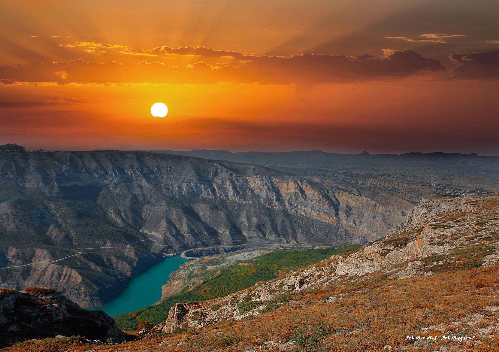 сулакский каньон,горы,река,осень,дагестан., Magov Marat