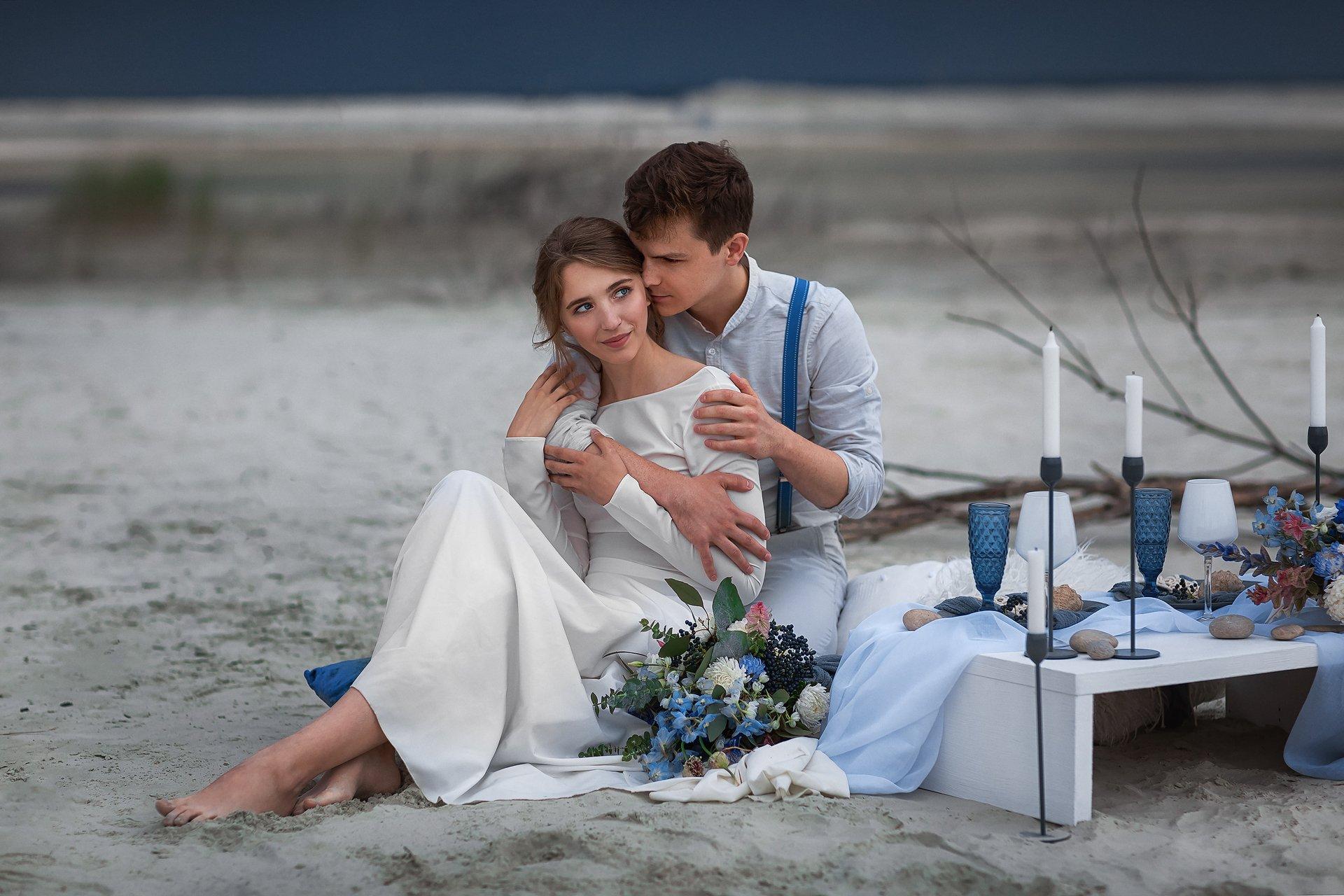 Любовь, пара, лето, песок, Бармина Анастасия