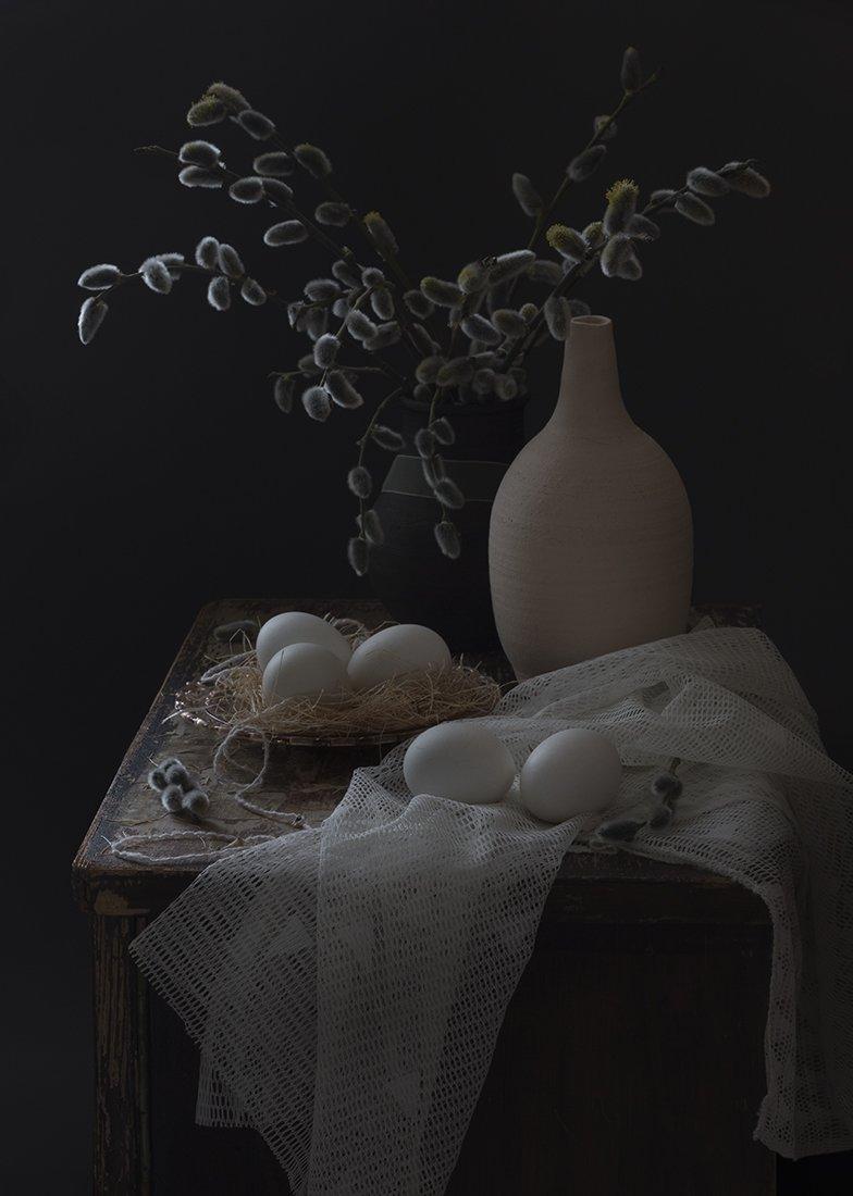 натюрморт,верба,яйцо, Елена Рубинская