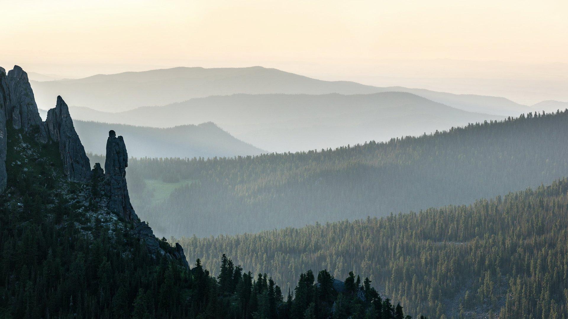 горы, сибирь, саяны, западный саян, ергаки, каменный замок, скала, ангел, вечер, Ник Васильев