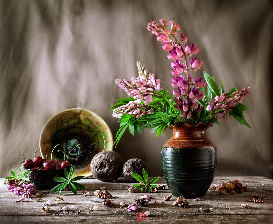 люпин, вишня, свекла, орех, листья, Татьяна Макотра