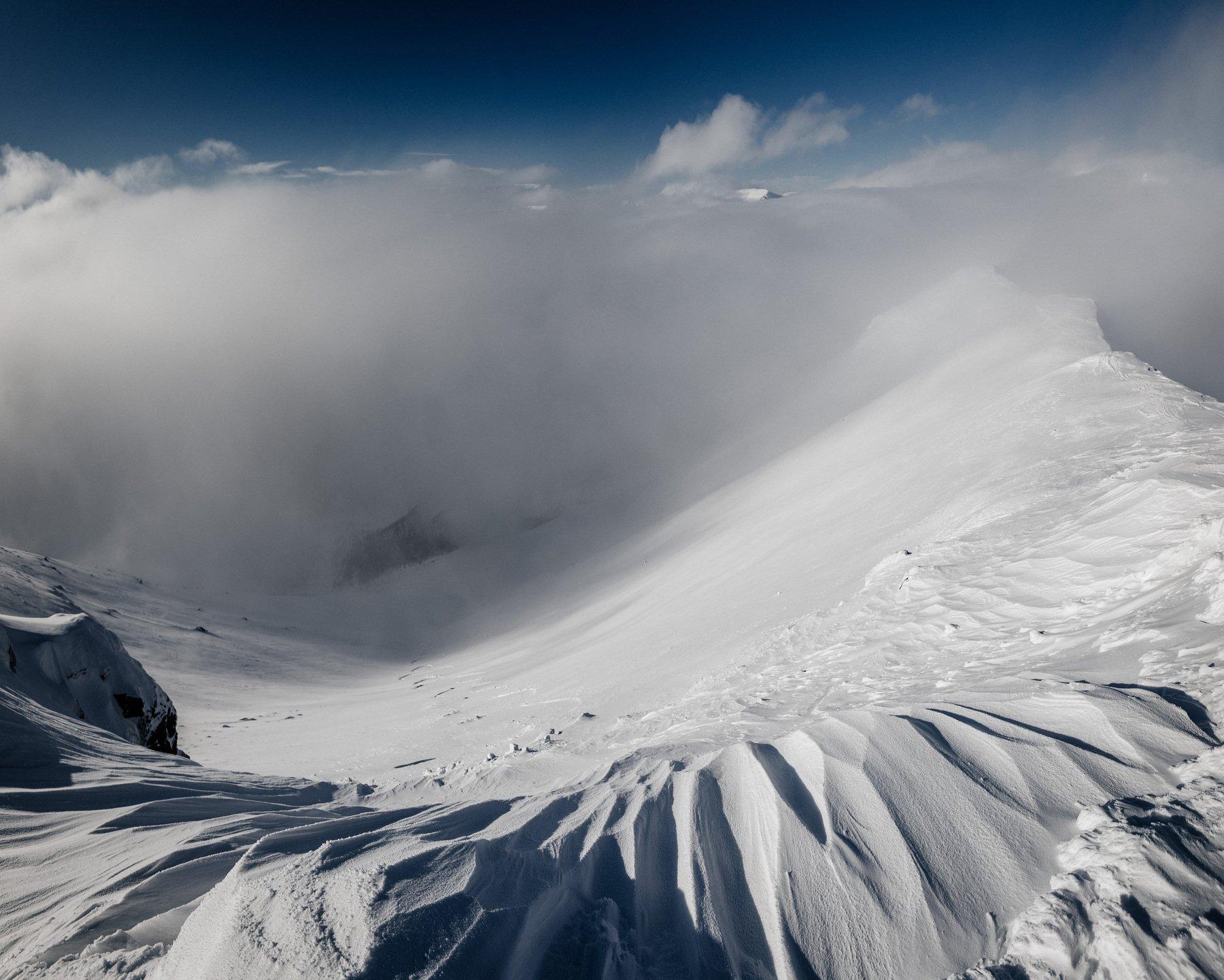 гора, снег, горы, вершина, небо, снег, облака, россия, хибины, кировск, туризм, путешествие, лыжи, Иван Клейн