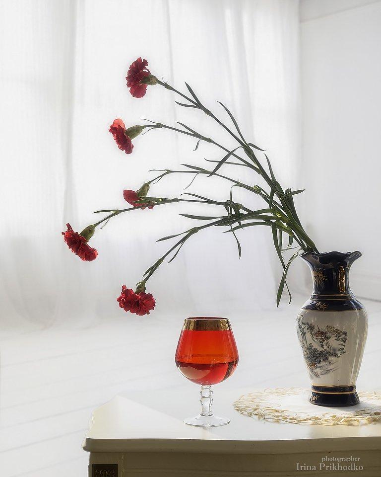 натюрморт, цветы, интерьер, букет, гвоздики, Ирина Приходько