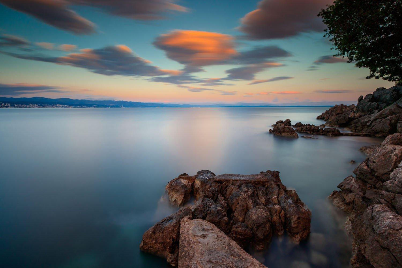 sea, seascape, landscape, nature, long exposure, sky, clouds, water, rocks, Nikolay