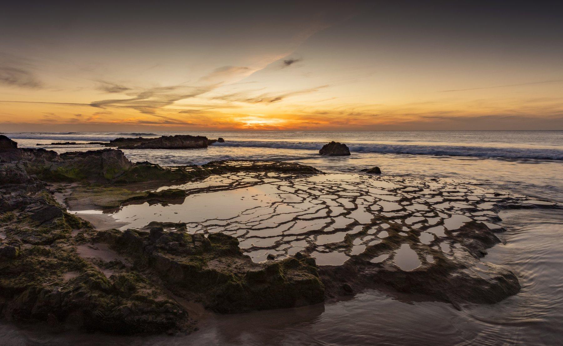 океан, закат, пляж, Alexandr Bezmolitvenny