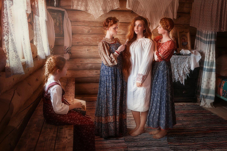 девушки, свадьба, русский стиль, Пипкина Оксана