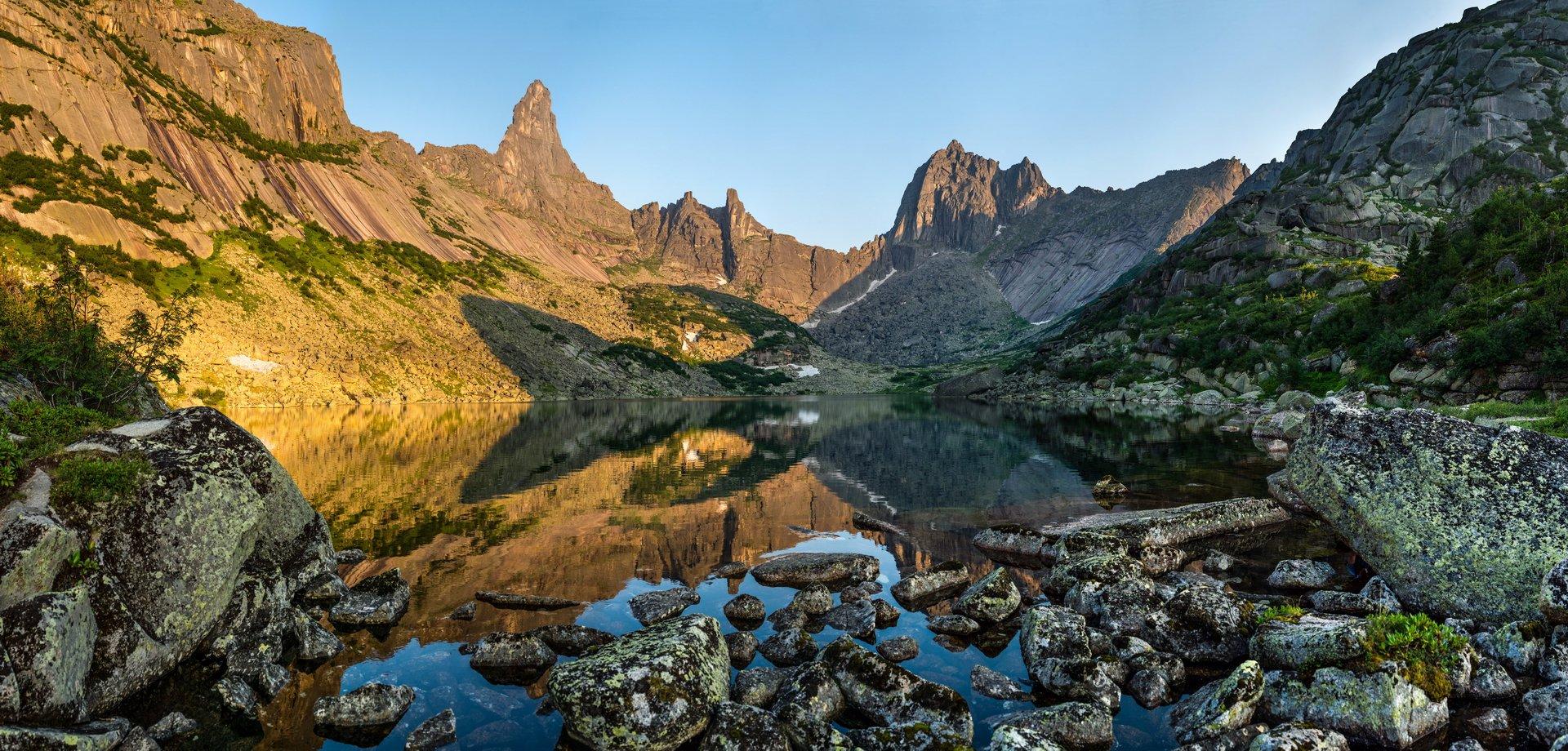 горы, сибирь, саяны, западный саян, ергаки, закат, ник васильев, озеро, отражение, горные духи, Ник Васильев