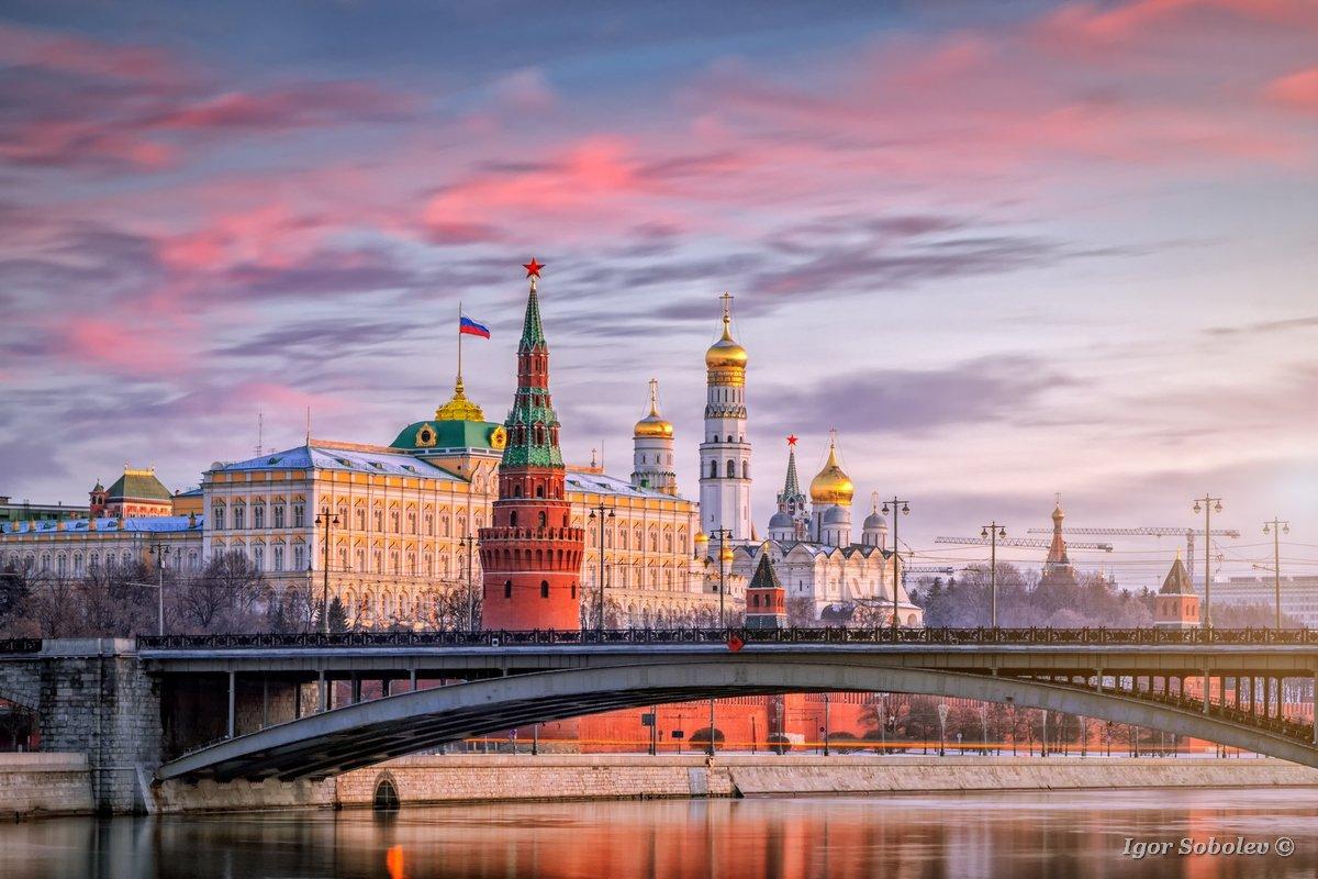 москва, кремль, рассвет, moscow, kremlin, dawn, Игорь Соболев