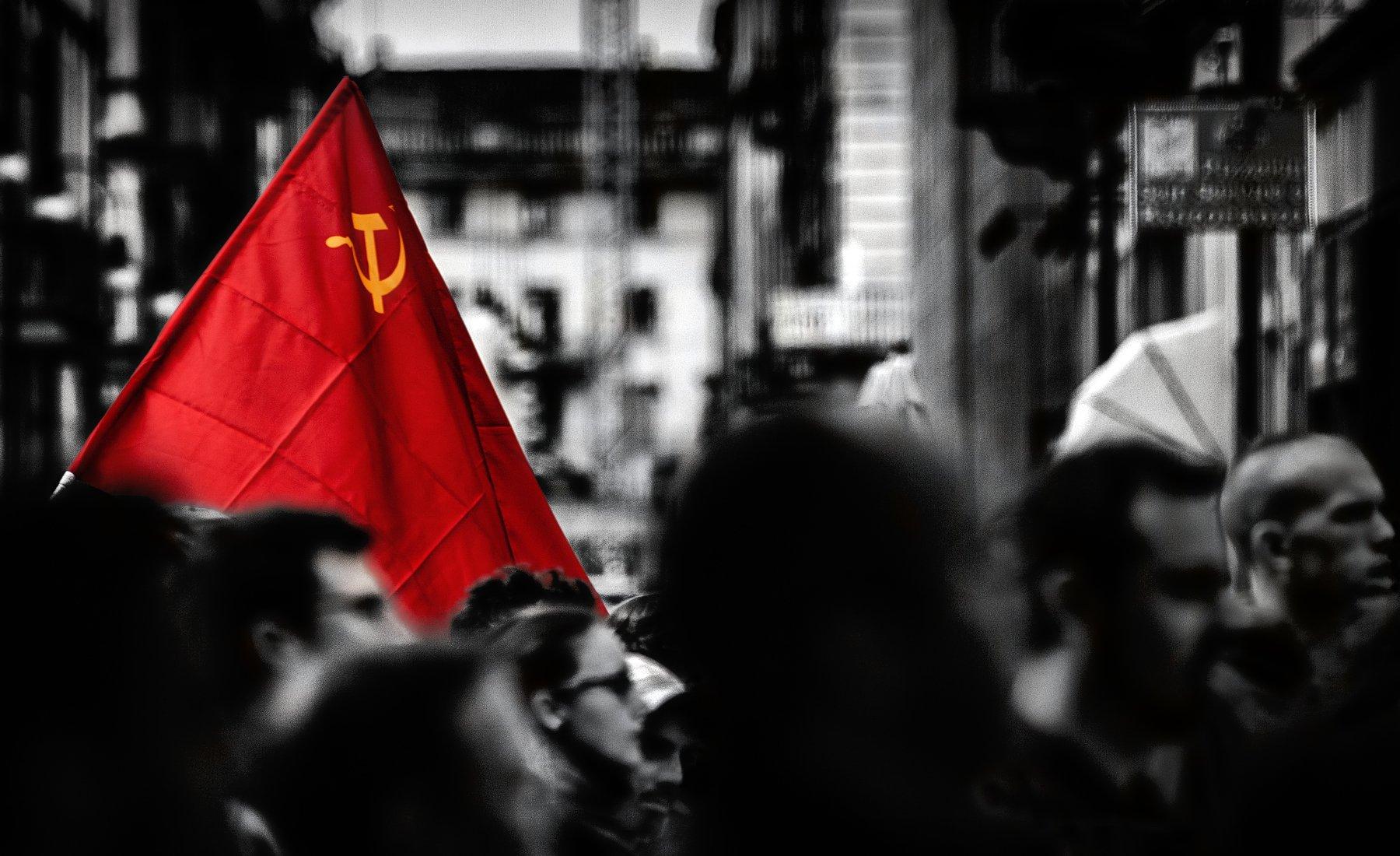 демонстрация, флаг, красный флаг, Alexandr Bezmolitvenny