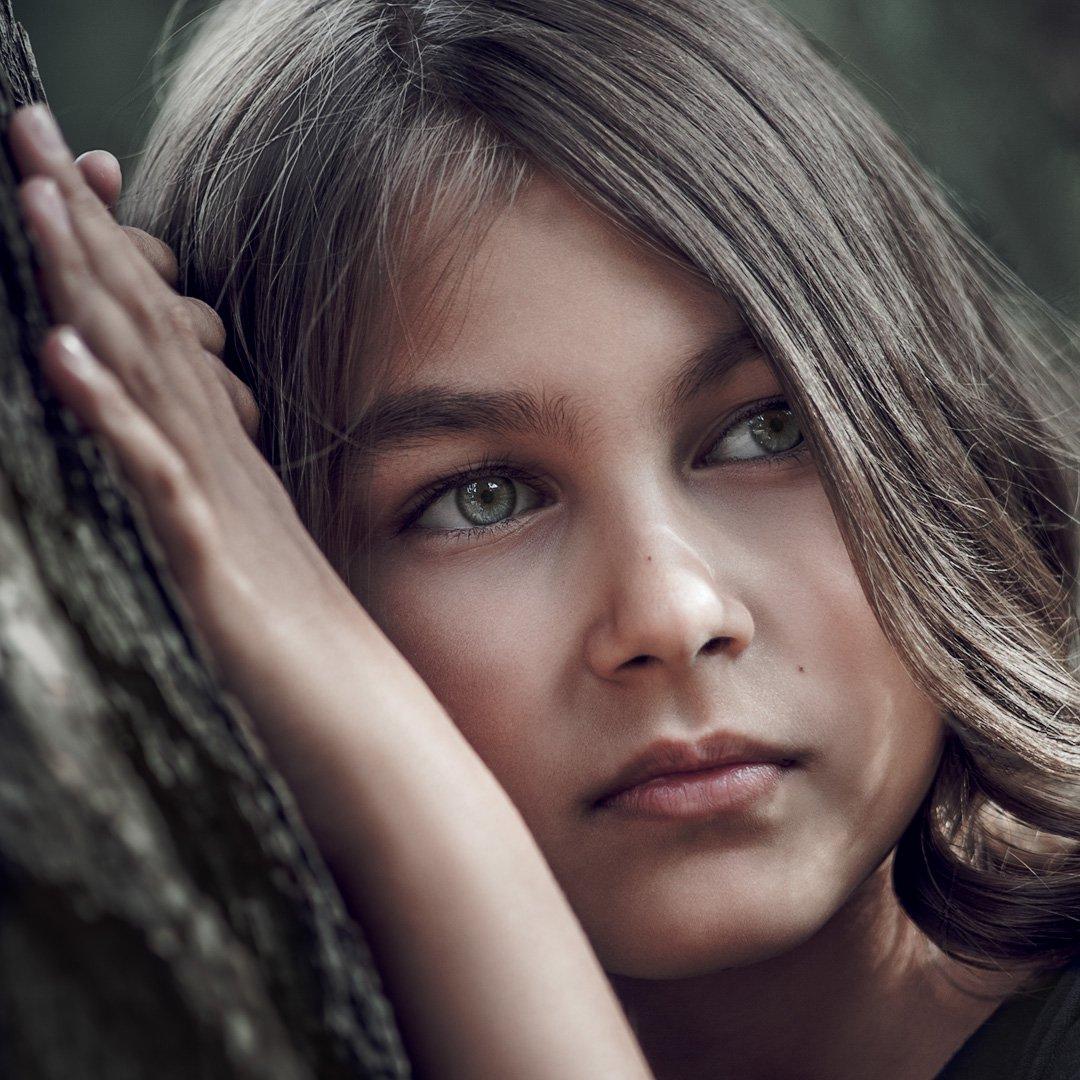 девочка, портрет, Владимир Тузлай