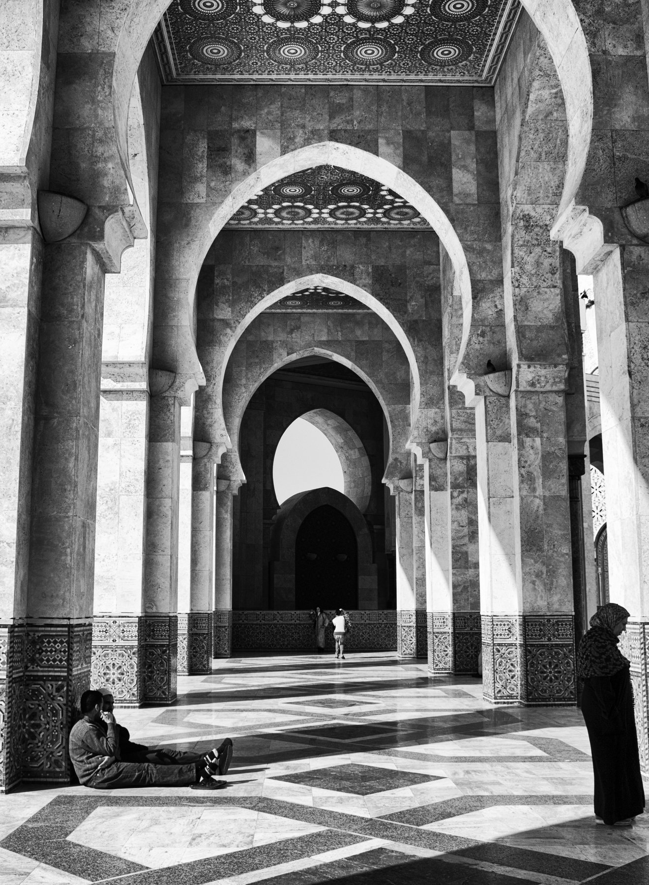 Morocco, Casablanca, Monochrome, Black and white, Street, Elena Beregatnova