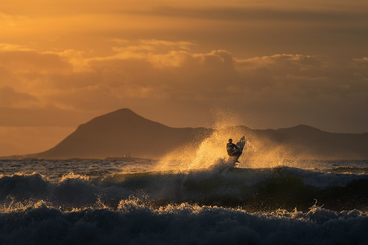 surfing,sea,wave,light,norway,people,sport,action, Tomek Orylski