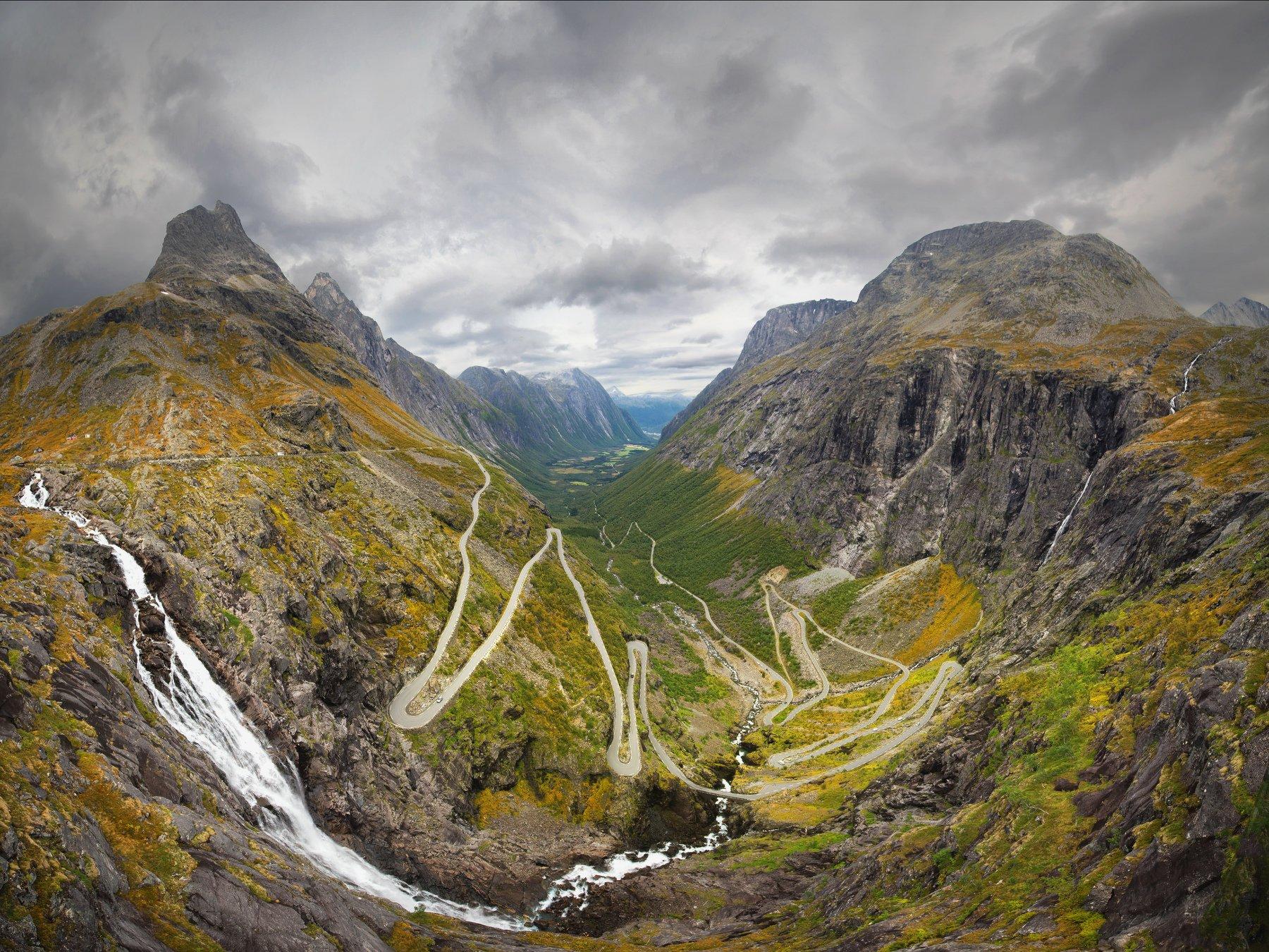 trollstigen,norway,norwegian,panoramic,panorama,road,mountains, Szatewicz Adrian