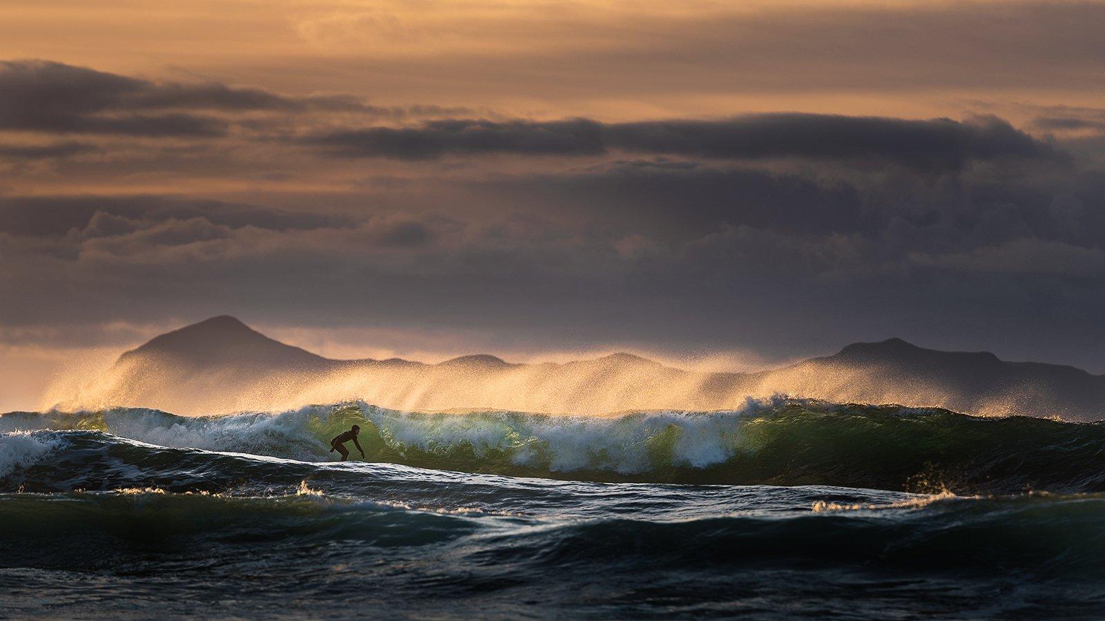 surfing,sport,action,mood,norway,sea,wave,sunset,people, Tomek Orylski