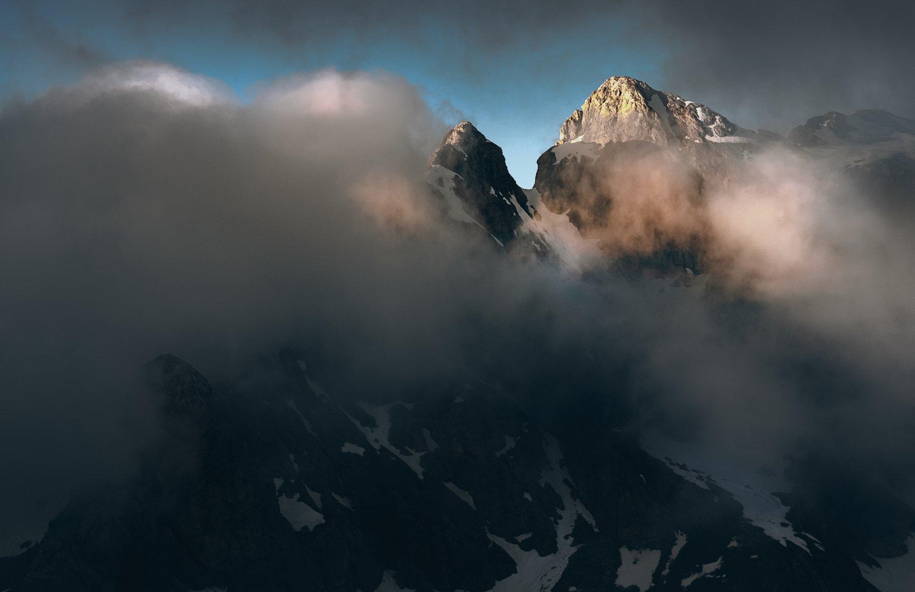 dolomiti, moon, alpi, panorama, giao, Bykov Sergey