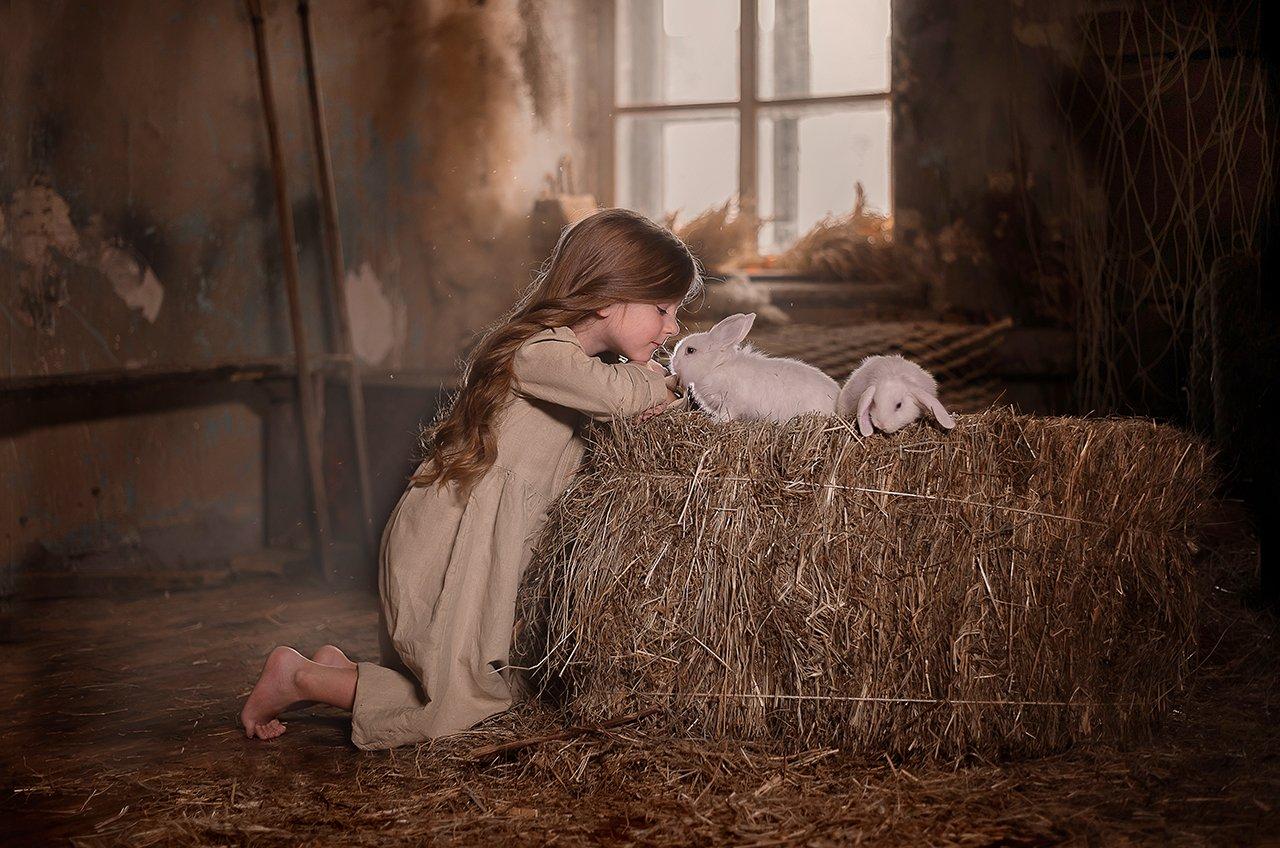 сено кролики дети , Мария Чернова