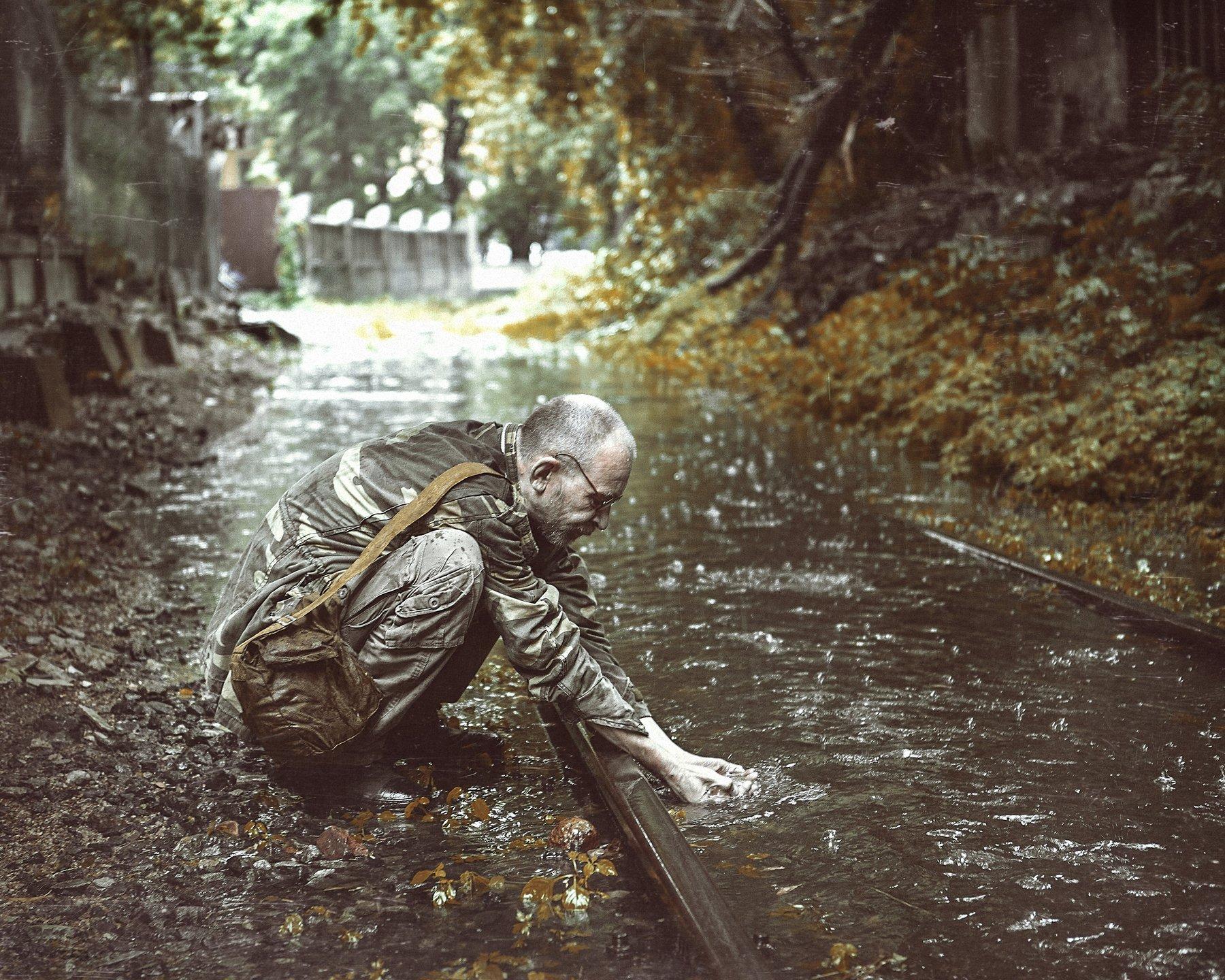 сталкер дождь зона рельсы, Шипов Олег