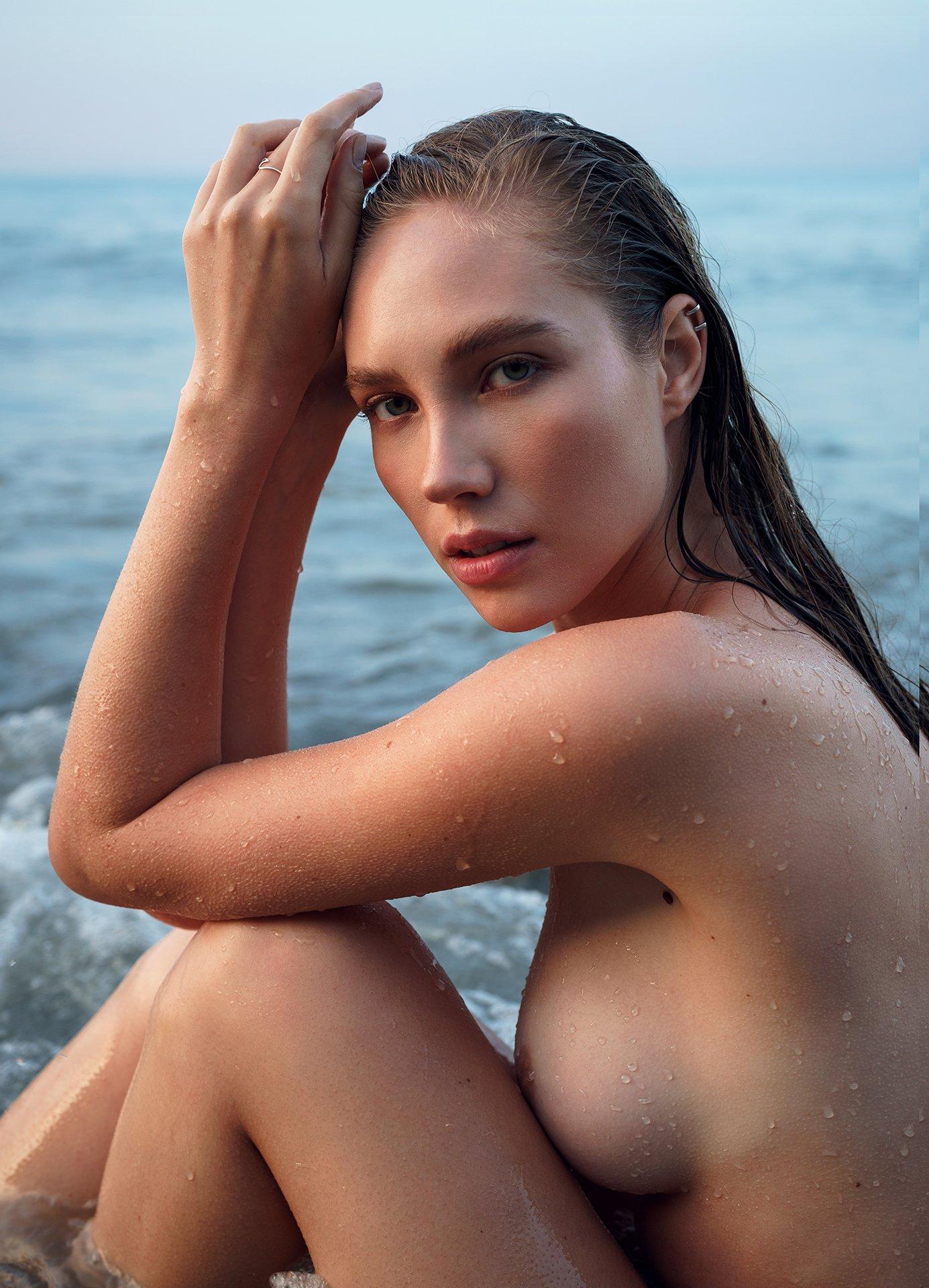 girl, model, nude, naked, drop, sea, water, face, nice, beautiful, beauty, body, dawn, natural light, Black Sea, novorossiysk, Роман Филиппов