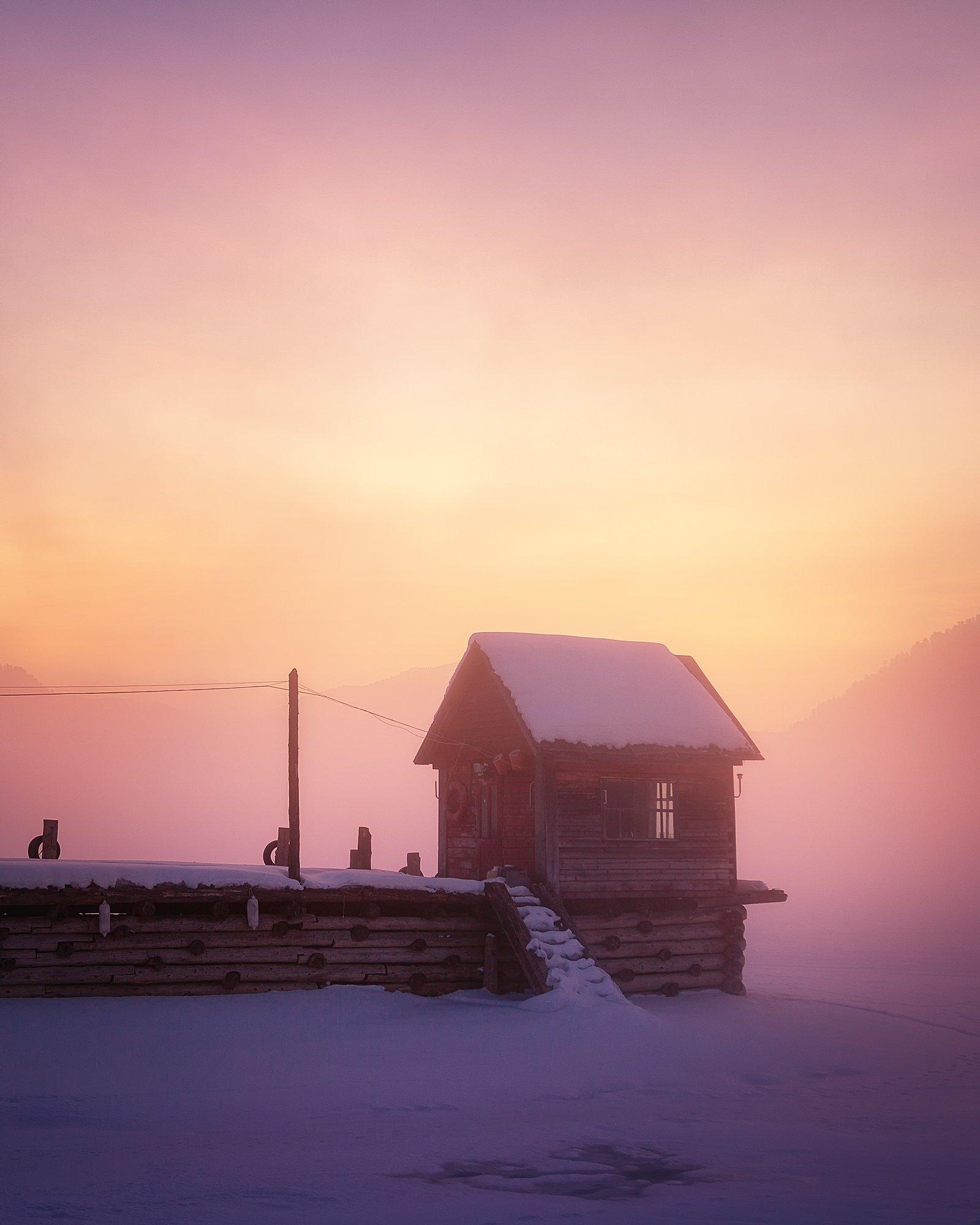 Алтай, Телецкое озеро, Артыбаш, Canon, рассвет, туман, мороз, Ира Булавинцева