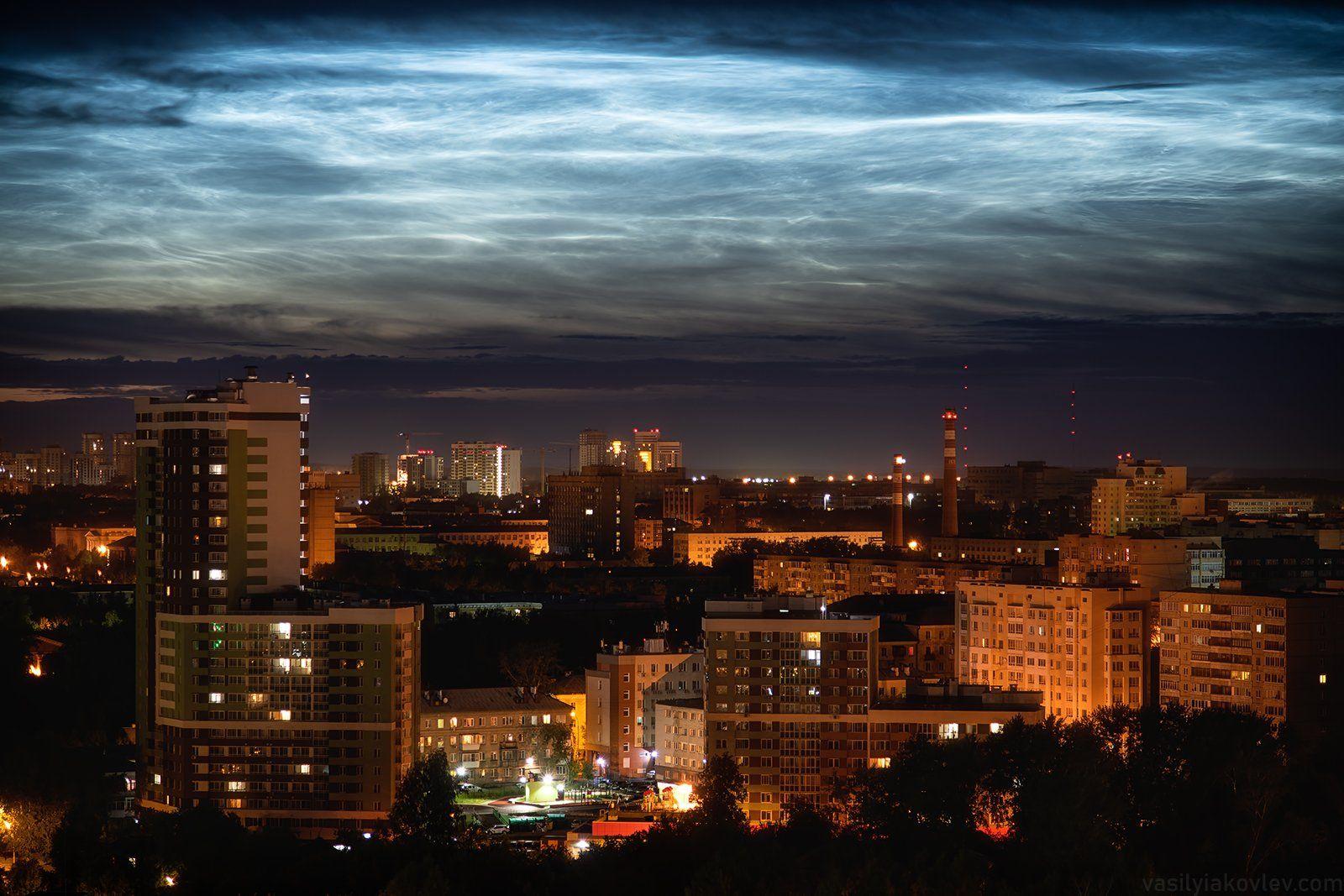 екатеринбург, город, ночь, Василий Яковлев