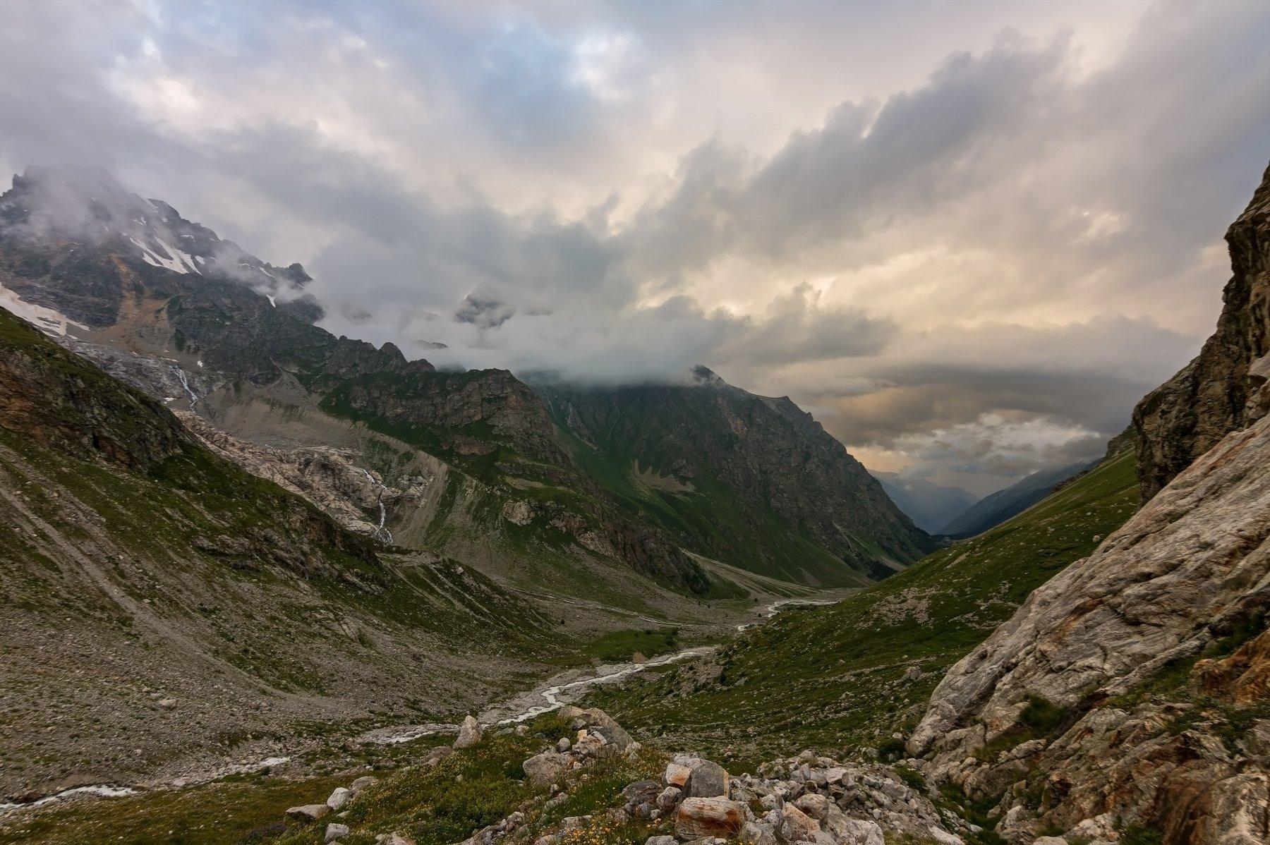 горы, закат, кавказ, Эстелла