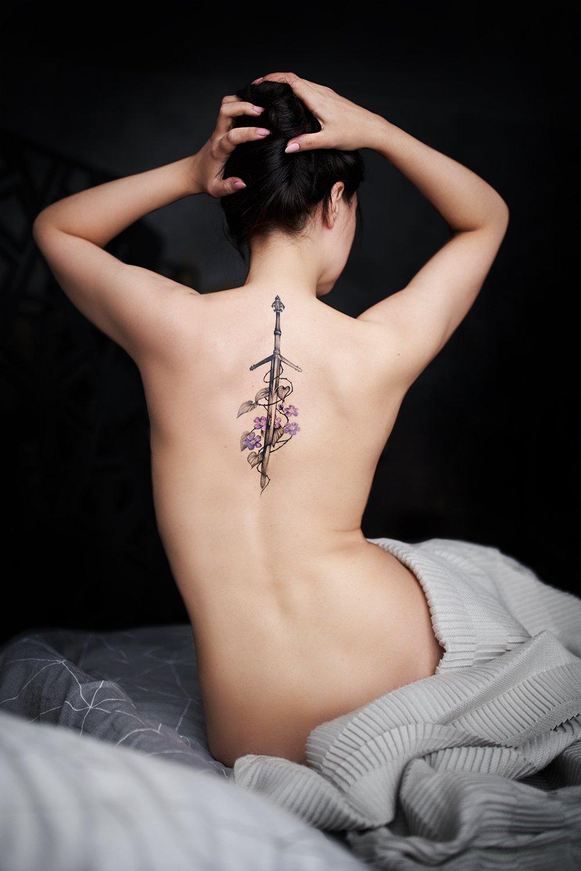 ню, девушка, цветок, юность, тело, красота, загар, Рузина Тина