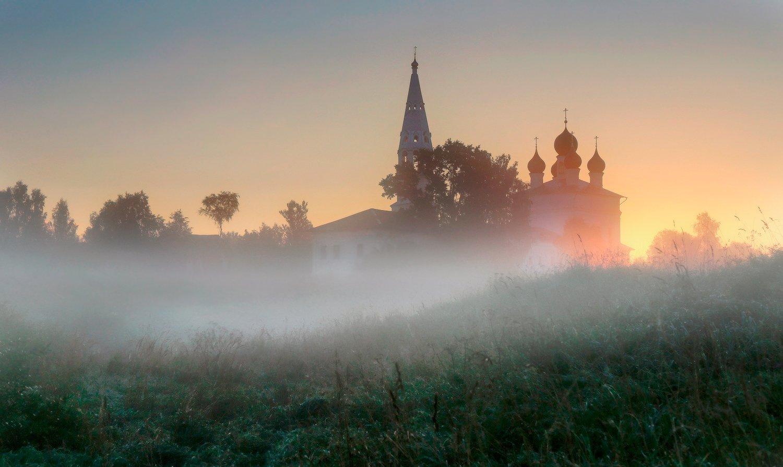 осенево, туман, Хвостенко Галина