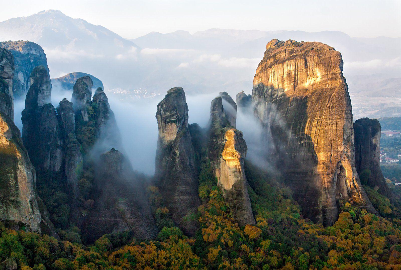 горы, туман, утро, метеоры, Tatyana Forever