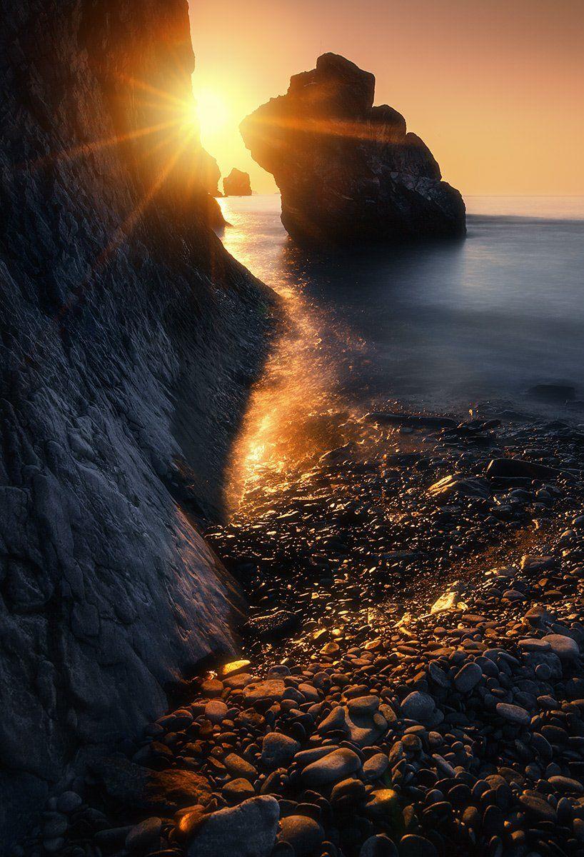 утро, море, скалы, Андрей Кровлин