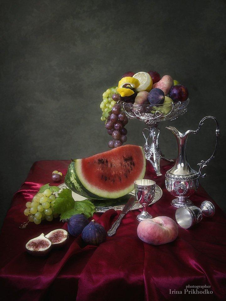 Натюрморт арбузом и инжиром Ирина Приходько