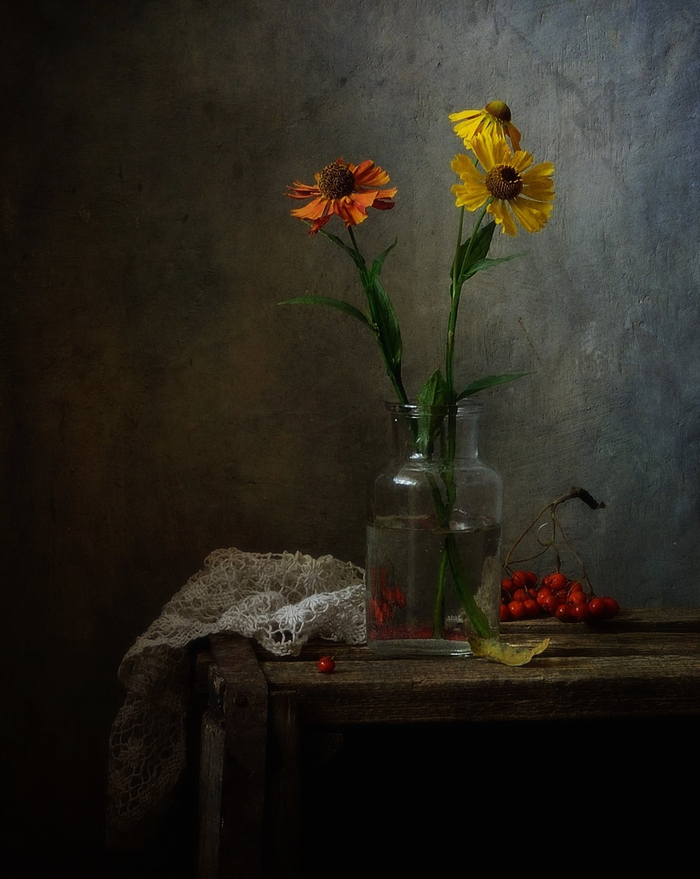 натюрморт,still life,цветы,гелениум, Наталия К