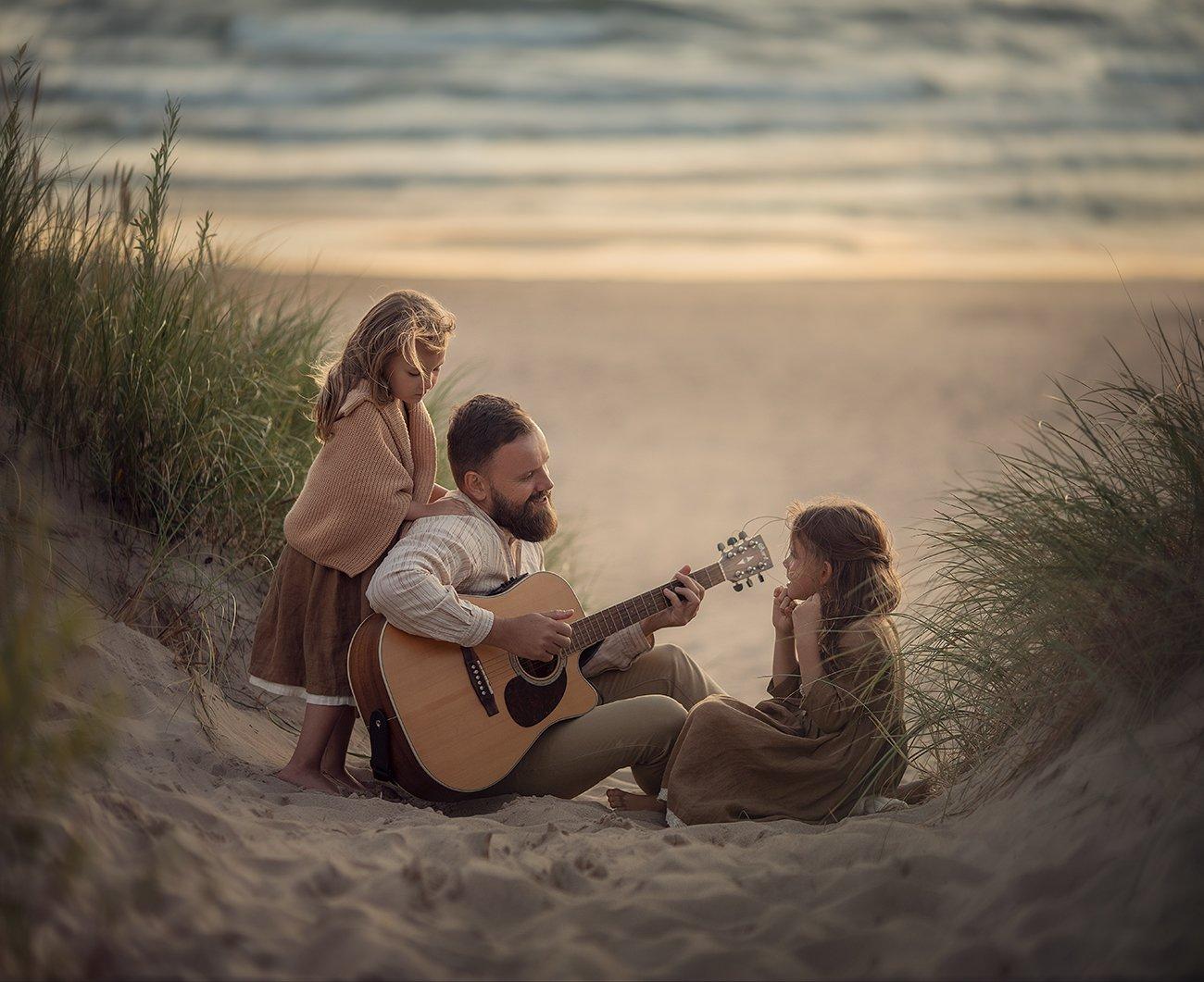 Дети, море, гитара, папа и дочки, Степанова Дарья