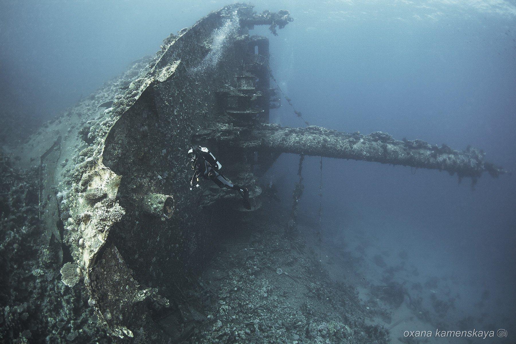 underwater wreck diving , Оксана Каменская