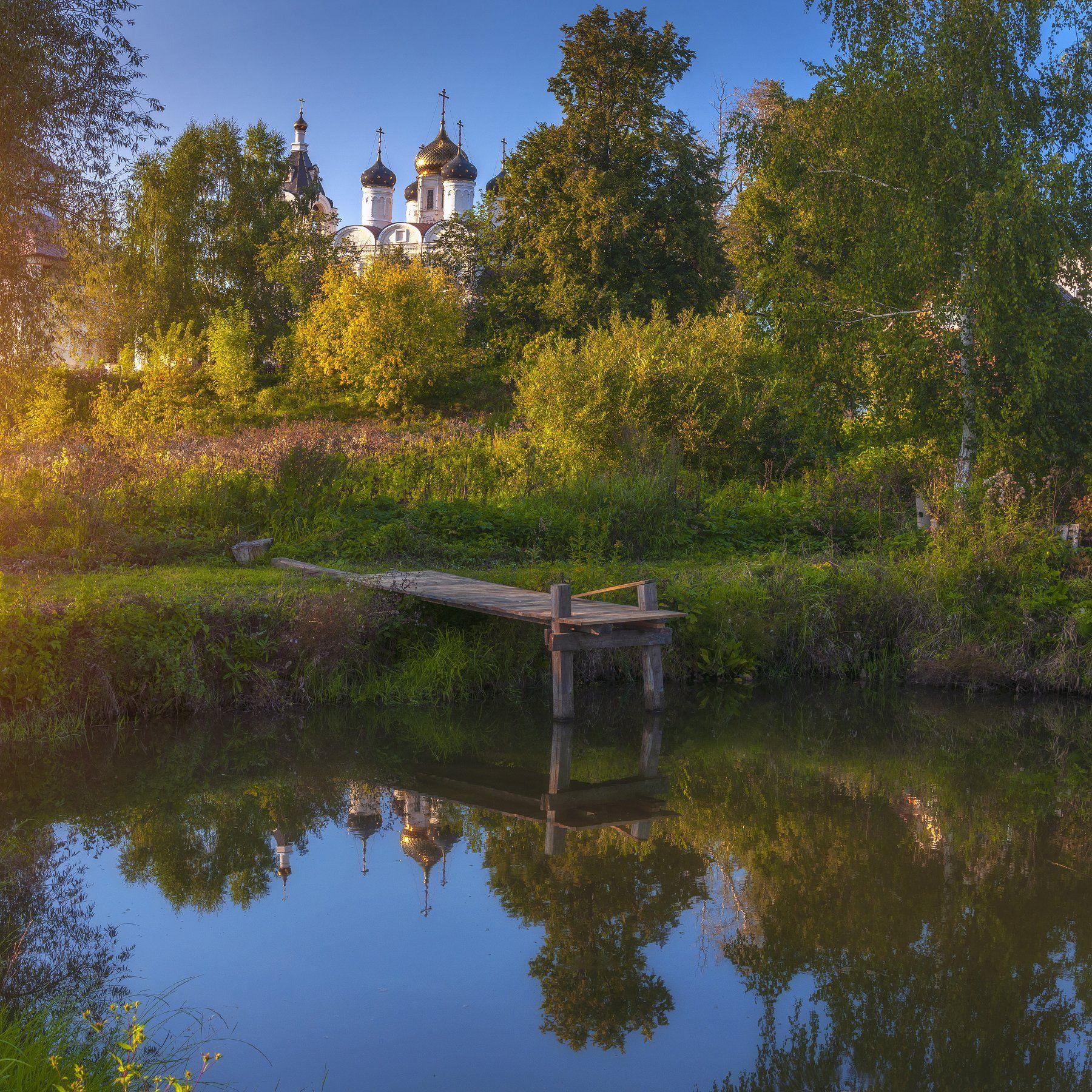 осень,пруд,храм,закат,пейзаж,природа,подмосковье, Павел Ныриков