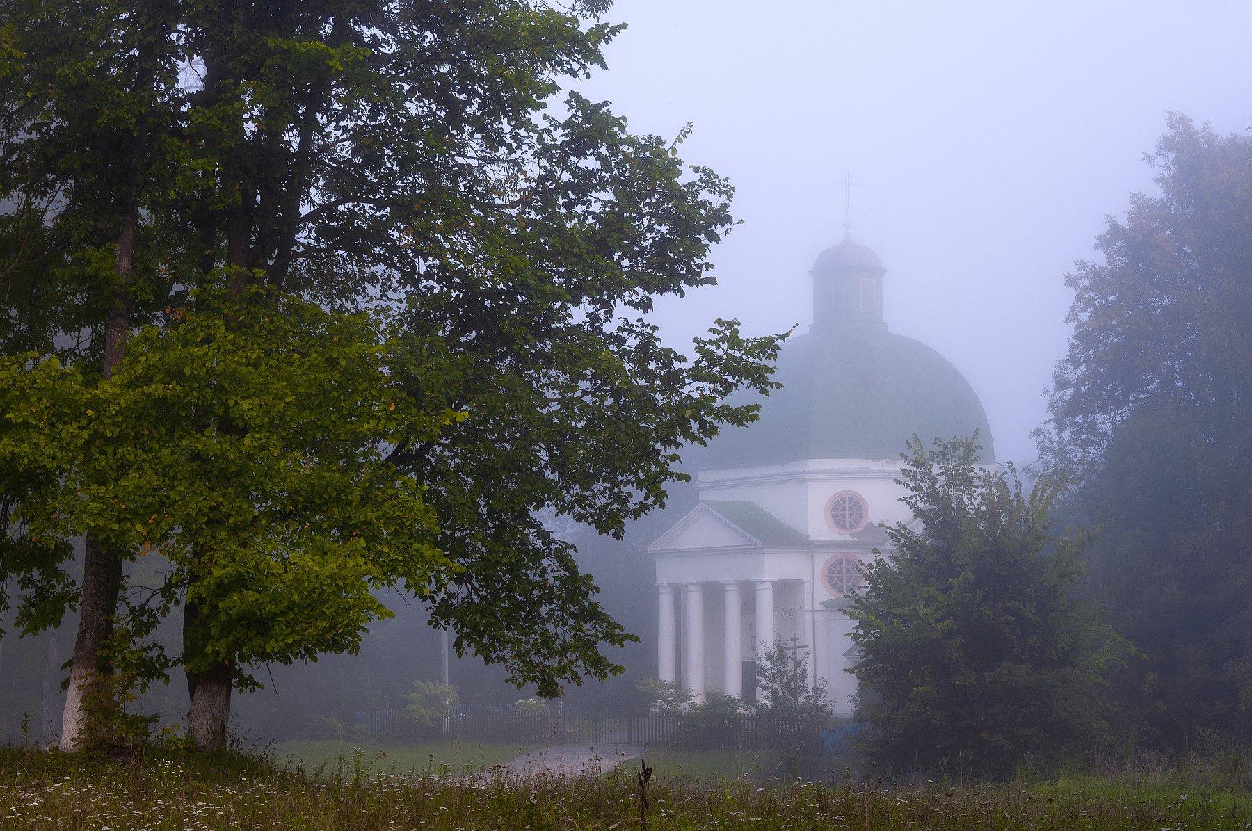 туман,лето,храм,высокое,природа,россия, Павел Ныриков